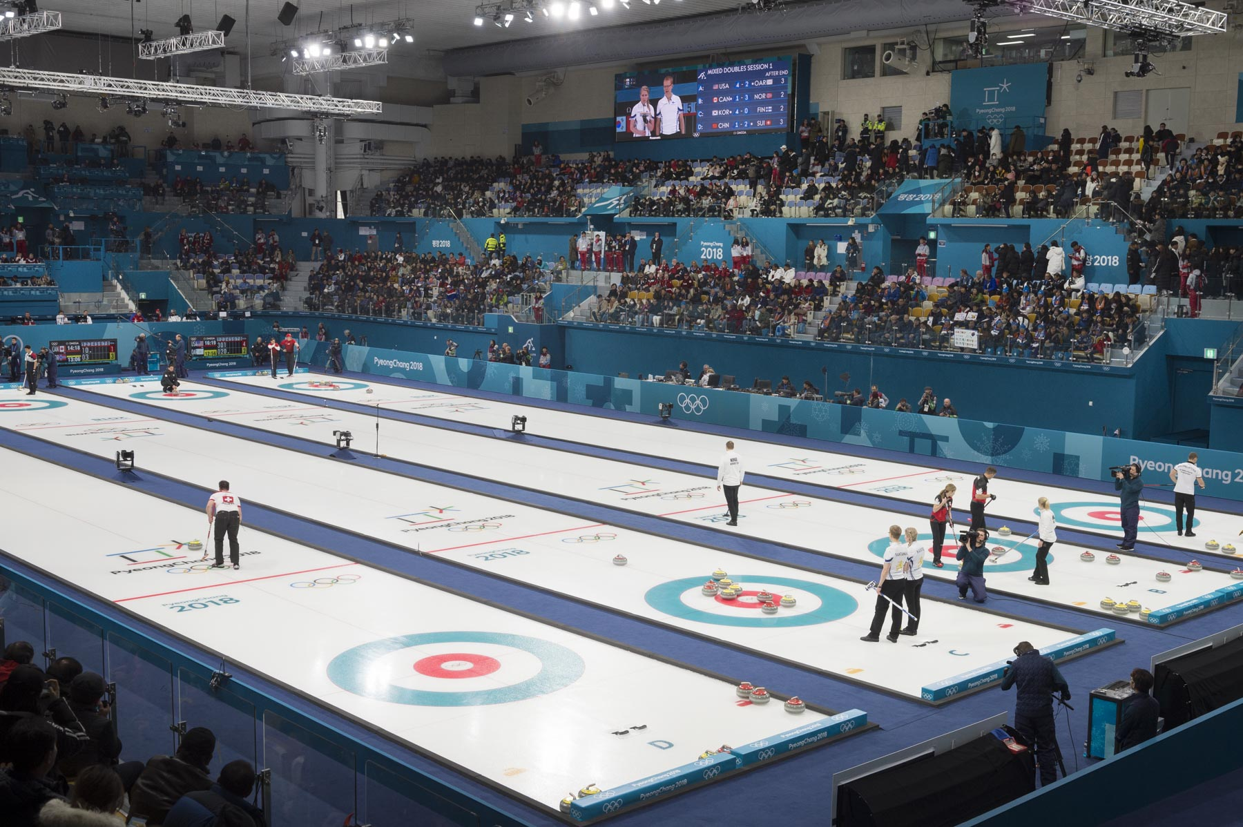 The curling event took place at the Gangneung Curling Centre.