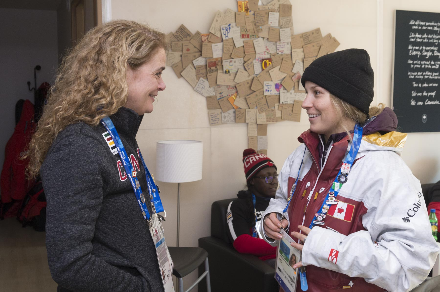 She also spoke with freestyle skier Audrey Robichaud.