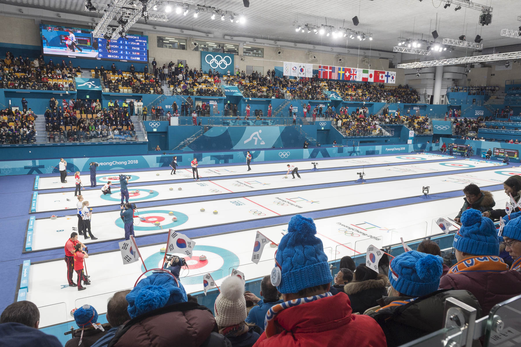 Her Excellency attended curling mixed doubles as Canada competed against Switzerland.