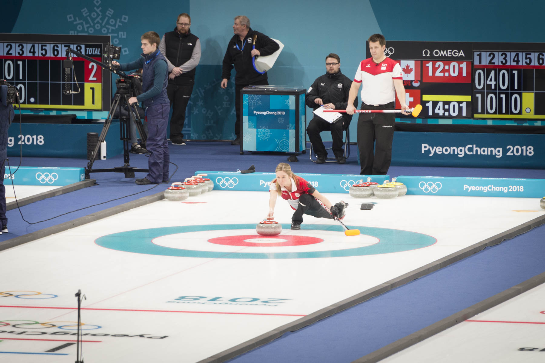 Curling is very strategic game that requires precision and technique.