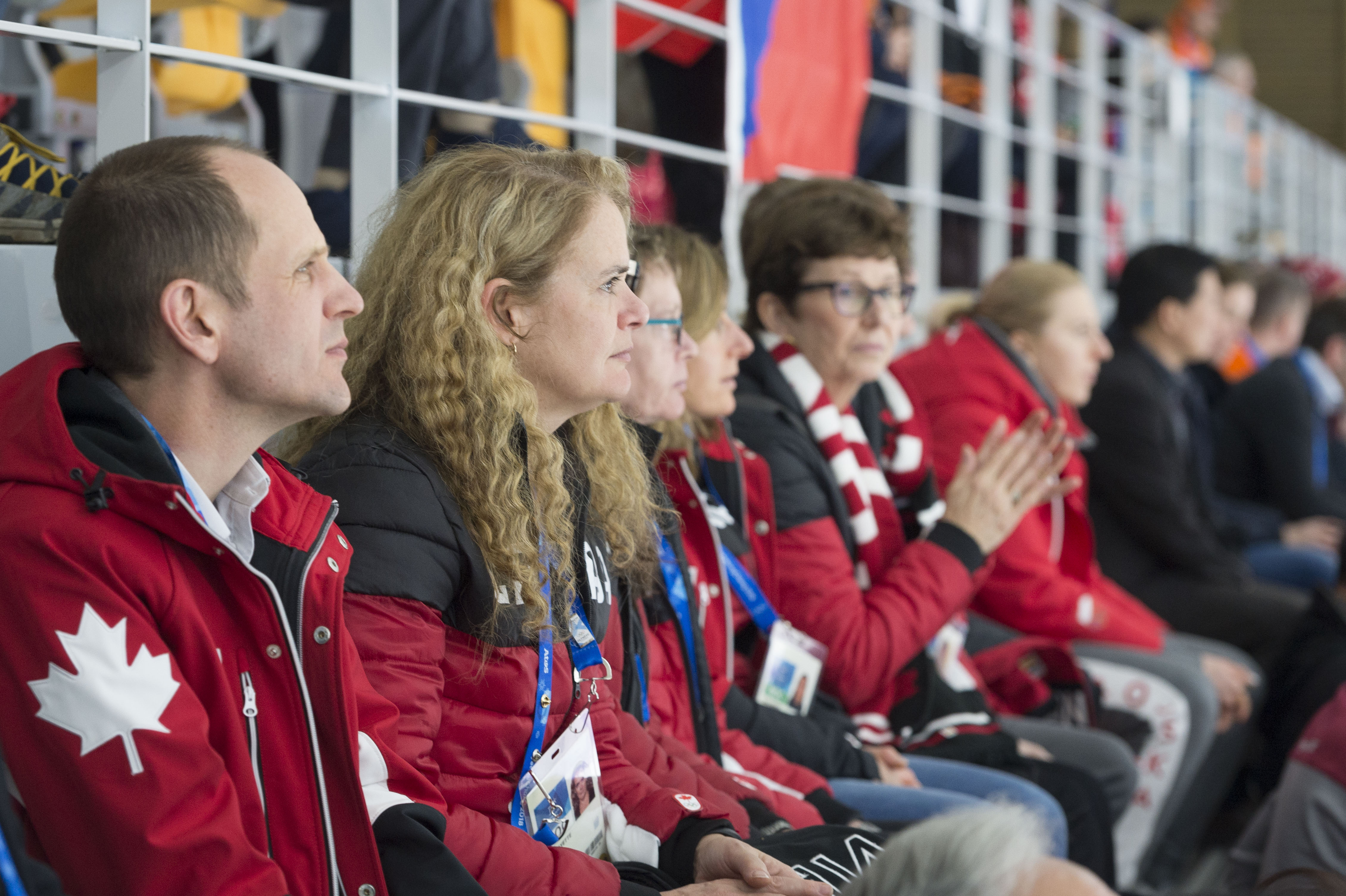 Her Excellency watched very attentively our Canadian athletes Isabelle Weidemann, Brianne Tutt and Ivanie Blondin.
