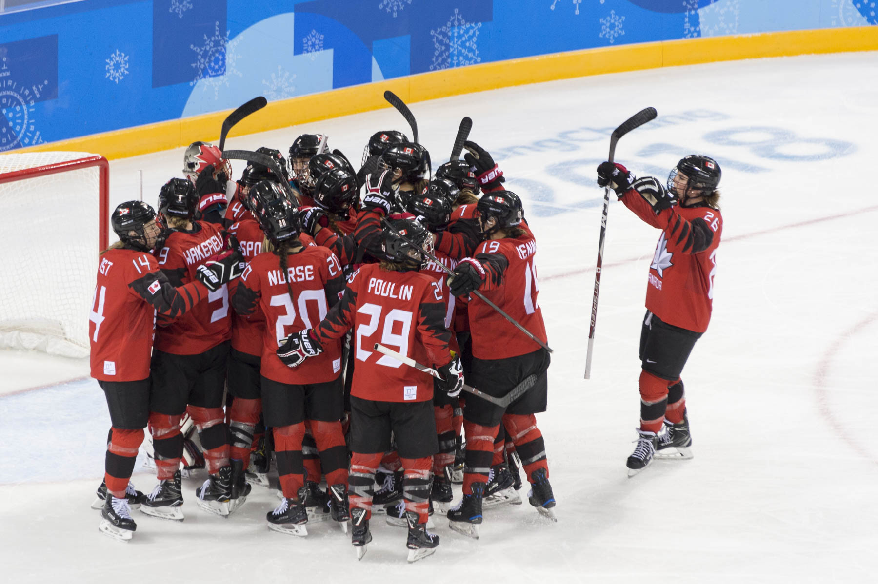 In the end, Team Canada won 5-0.