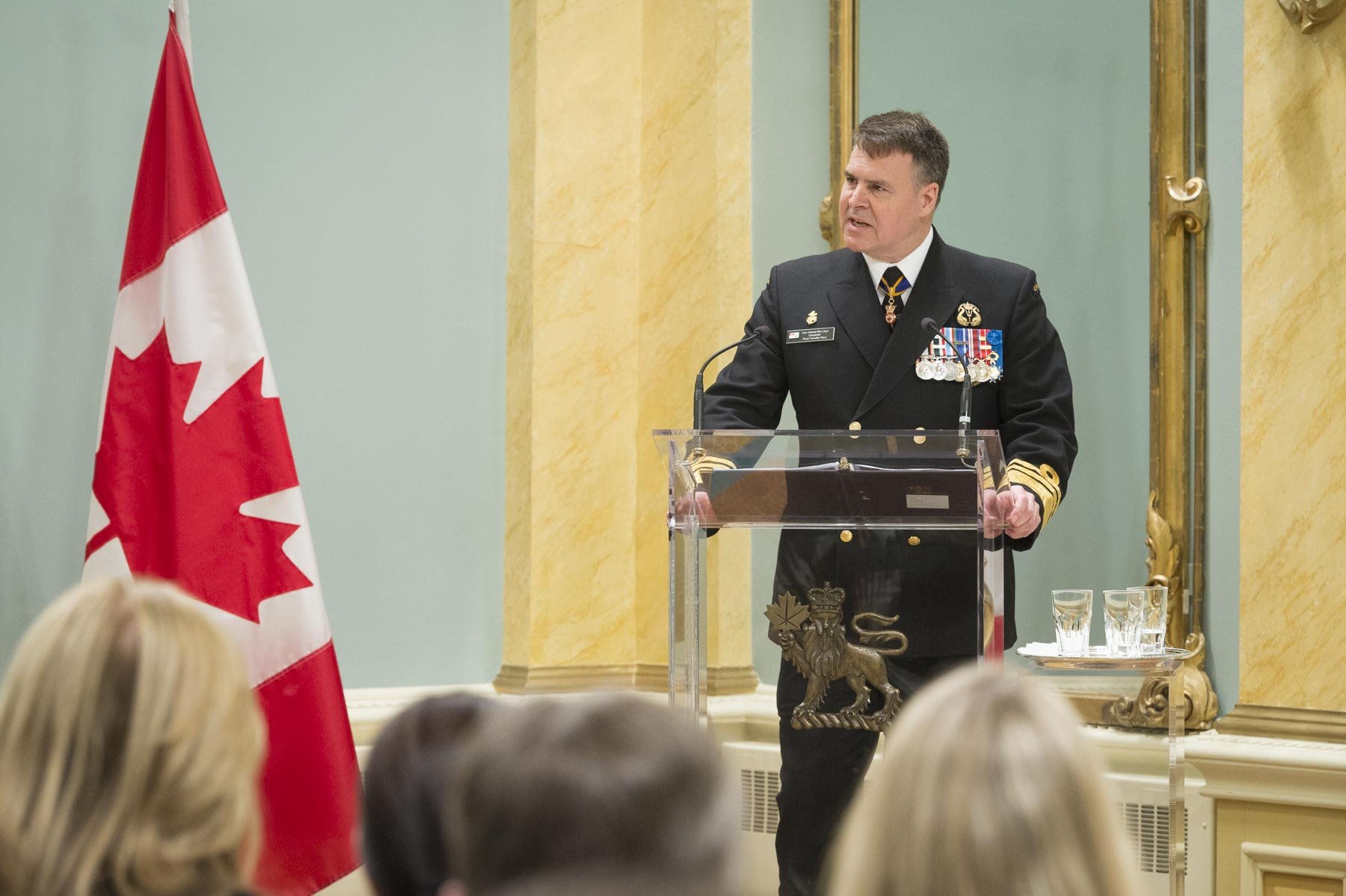 The ceremony concluded with remarks from Vice-Admiral Ron Lloyd, Commander of the Royal Canadian Navy, who congratulated the recipients for their remarkable contributions to Canada's military heritage.