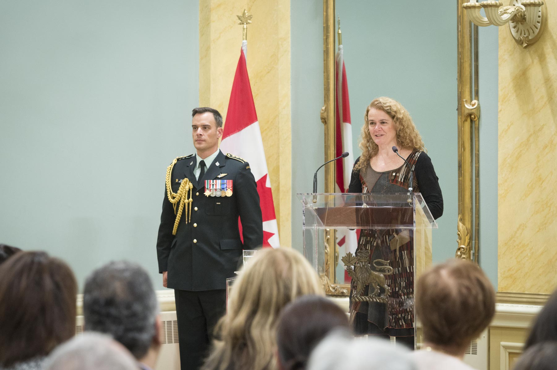 In celebration of National Volunteer Week, the Governor General presented the Sovereign's Medal for Volunteers to 41 individuals during a ceremony at Rideau Hall.
