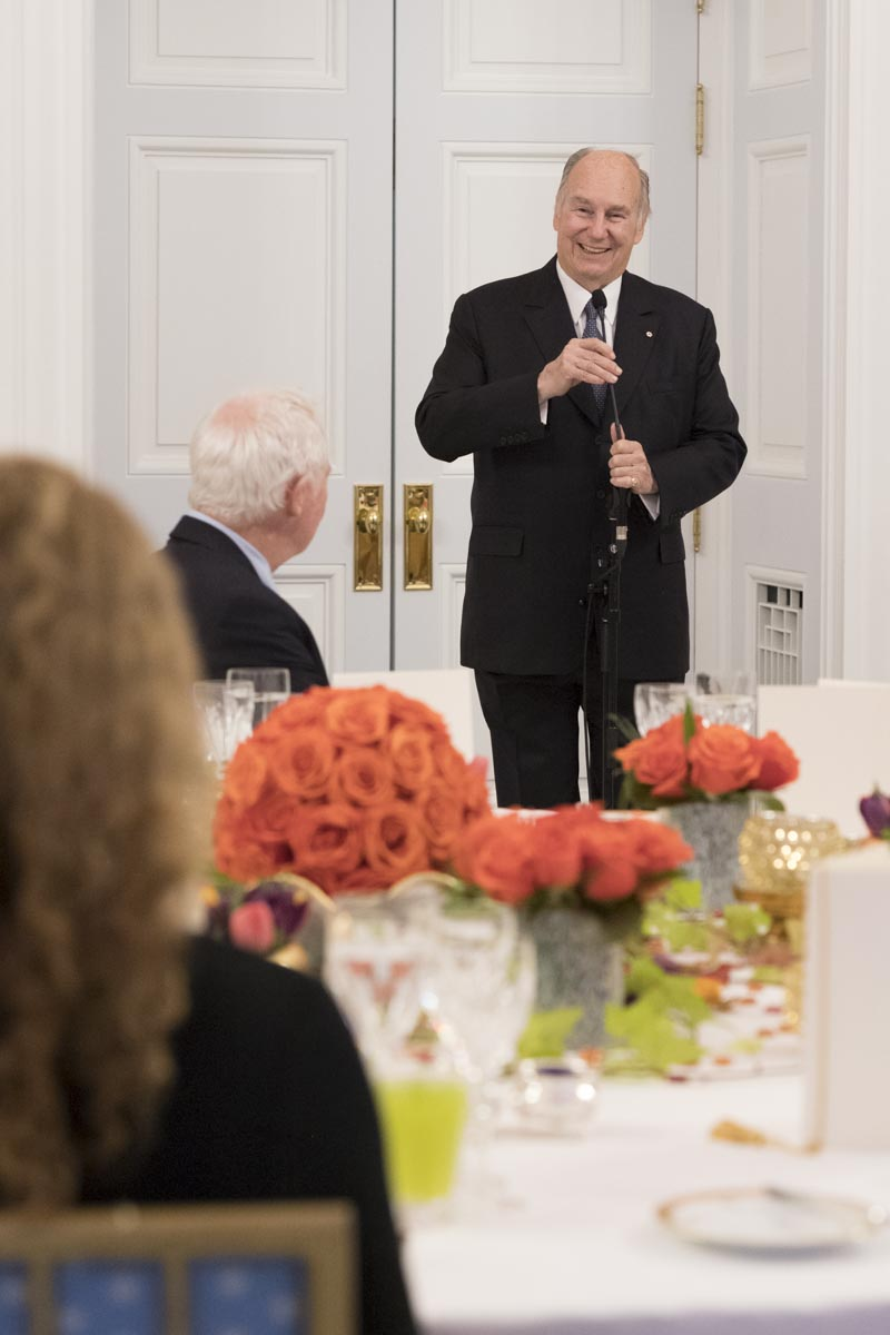 His Highness personally thanked Canadians for their friendship, generosity and their wisdom.