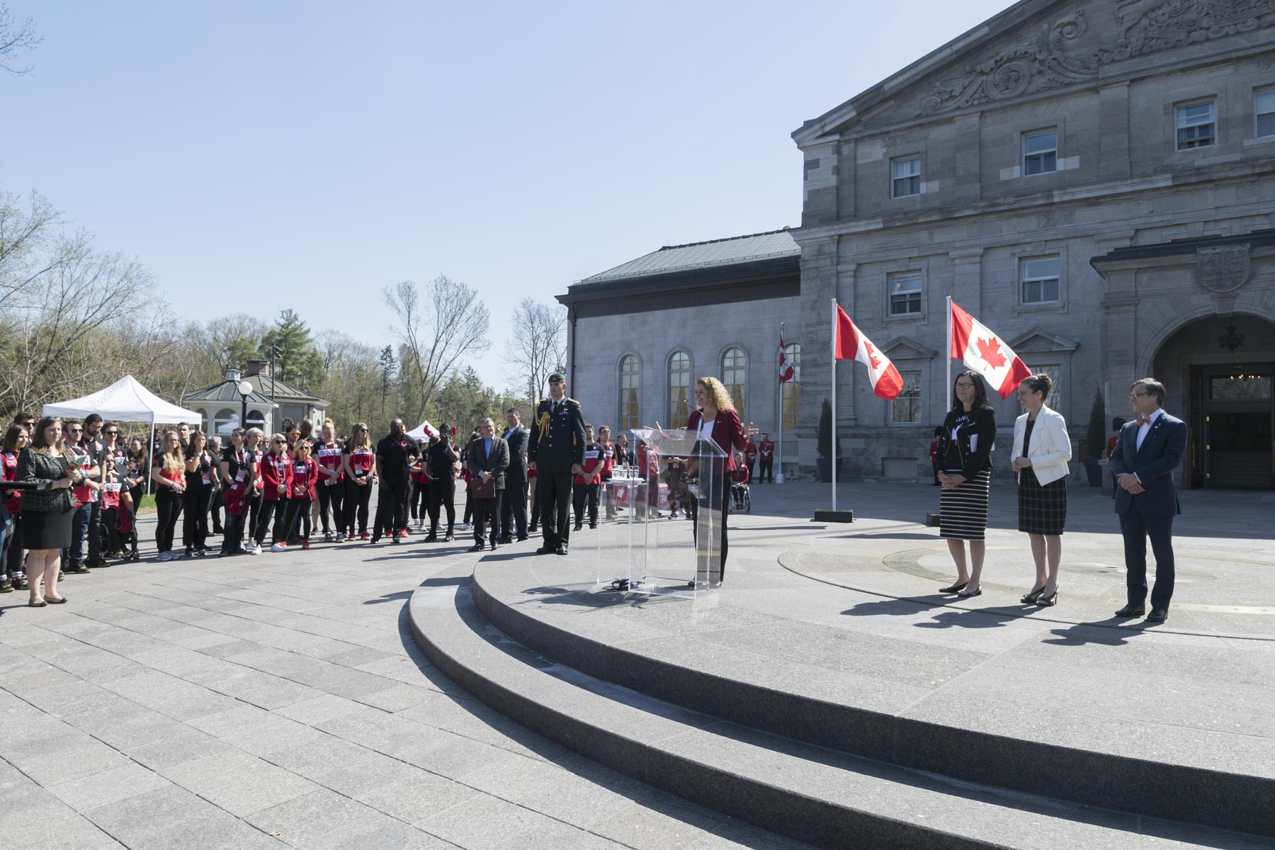 The Governor General delivered remarks and congratulated all of Team Canada athletes on their outstanding performances at the PyeonChang Winter Games. Team Canada won a total of 29 Olympic medals and 28 Paralympic medals, a new Canadian record at Winter Games.