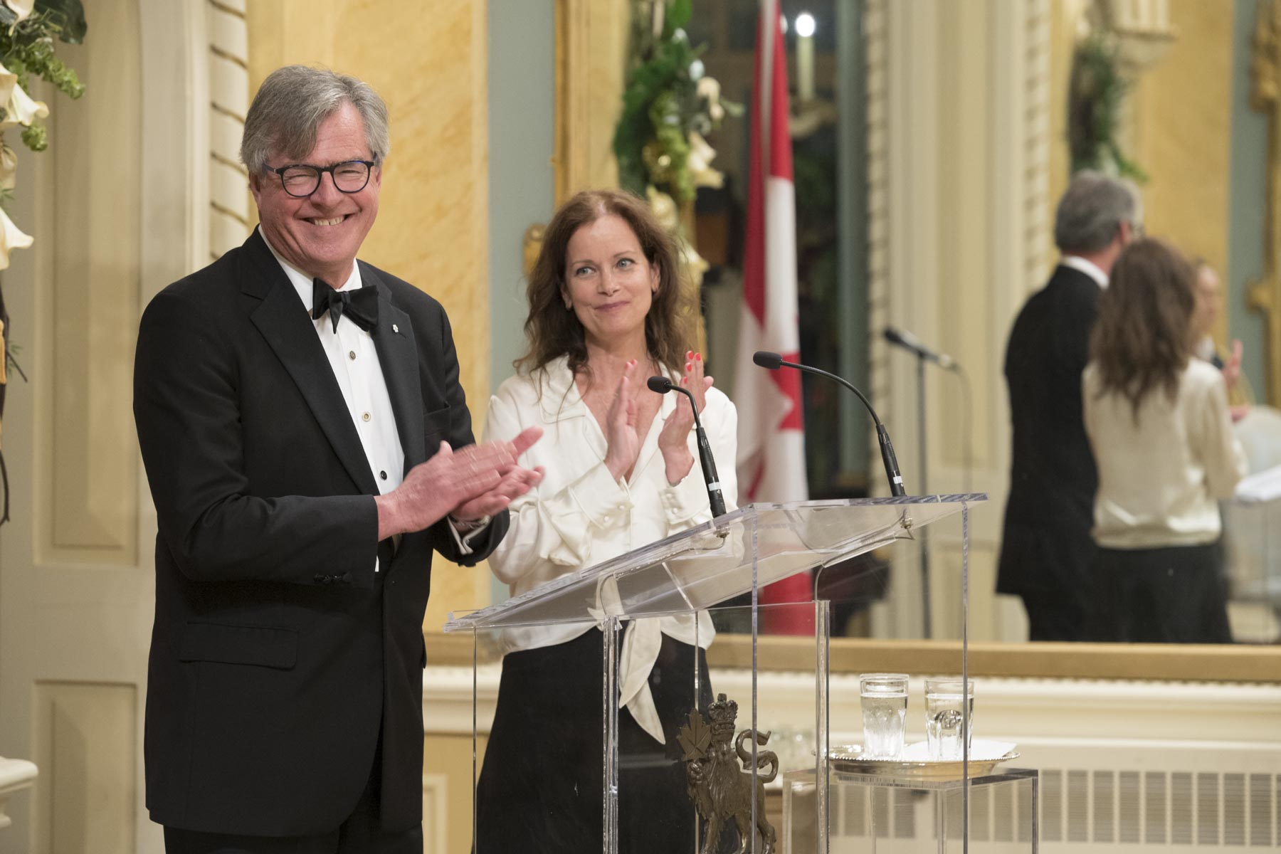 Chair and CEO Mr. Douglas Knight and Co-Chair Ms. Anik Bissonnette of the Governor General's Performing Arts Awards Foundation presented each recipient to the audience.