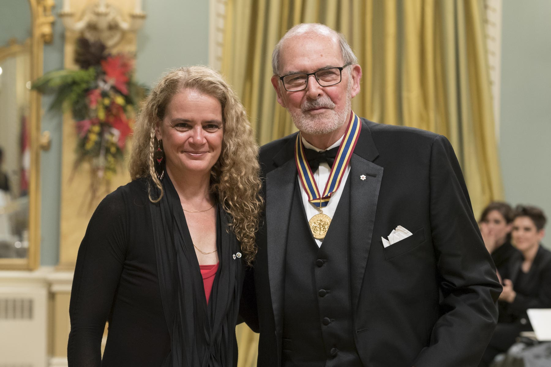 Peter A. Herrndorf was presented with a Special Lifetime Achievement Award. He has devoted his career to journalism, broadcasting and the arts in Canada. As president and CEO (1999–2018) of Canada's National Arts Centre, North America's only multidisciplinary, bilingual performing arts centre, he has worked tirelessly to fulfill the centre's mandate: to play a leadership role in fostering artistic excellence in all disciplines of the performing arts in Canada.