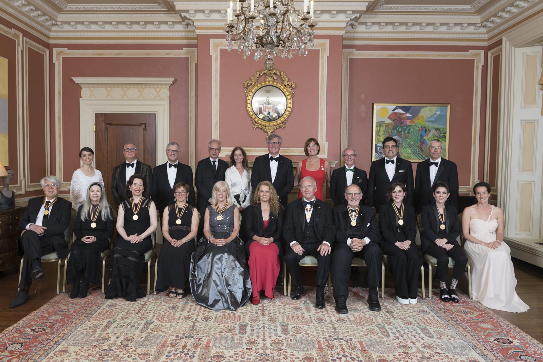 Récipients of the 2018 Governor General Performing Arts Awards.