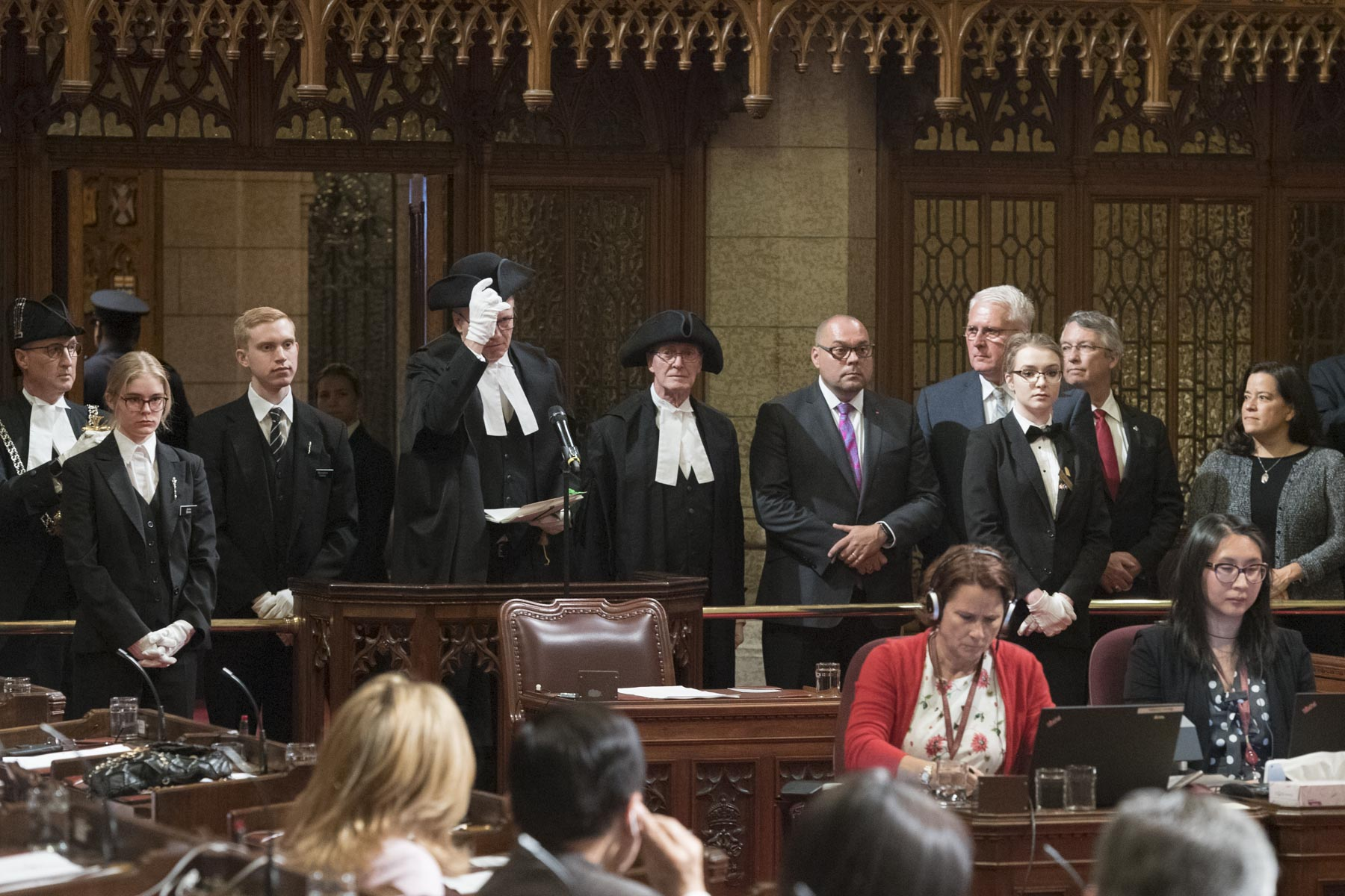 Members of Parliament attended the ceremony.