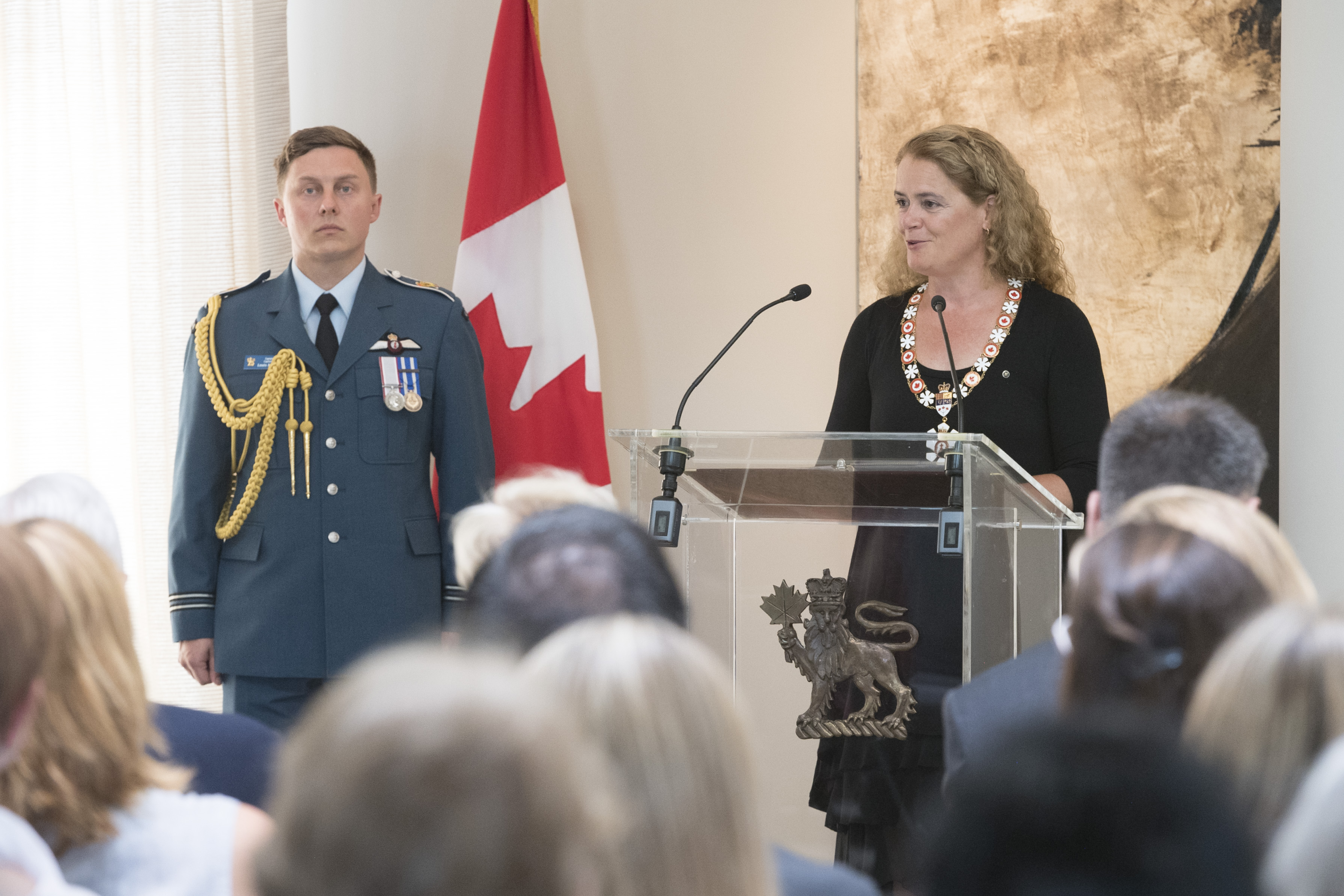 During her opening remarks, the Governor General congratulated those being honoured and explained that their achievements were a reflection of intent, sustained effort and extraordinary execution.
