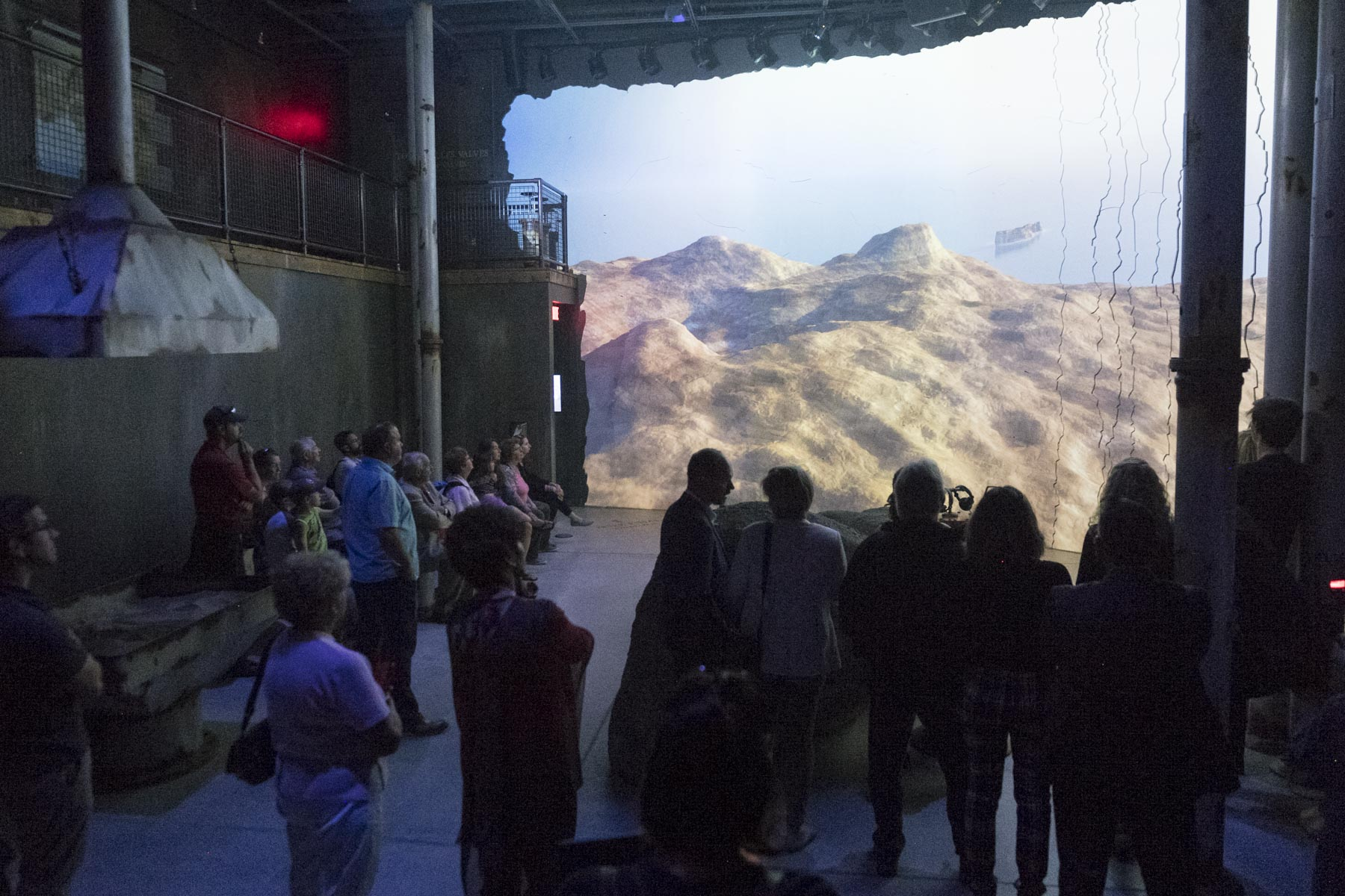 The Tektonik interactive exhibition is a multimedia experience that combines geology, history and new technologies.