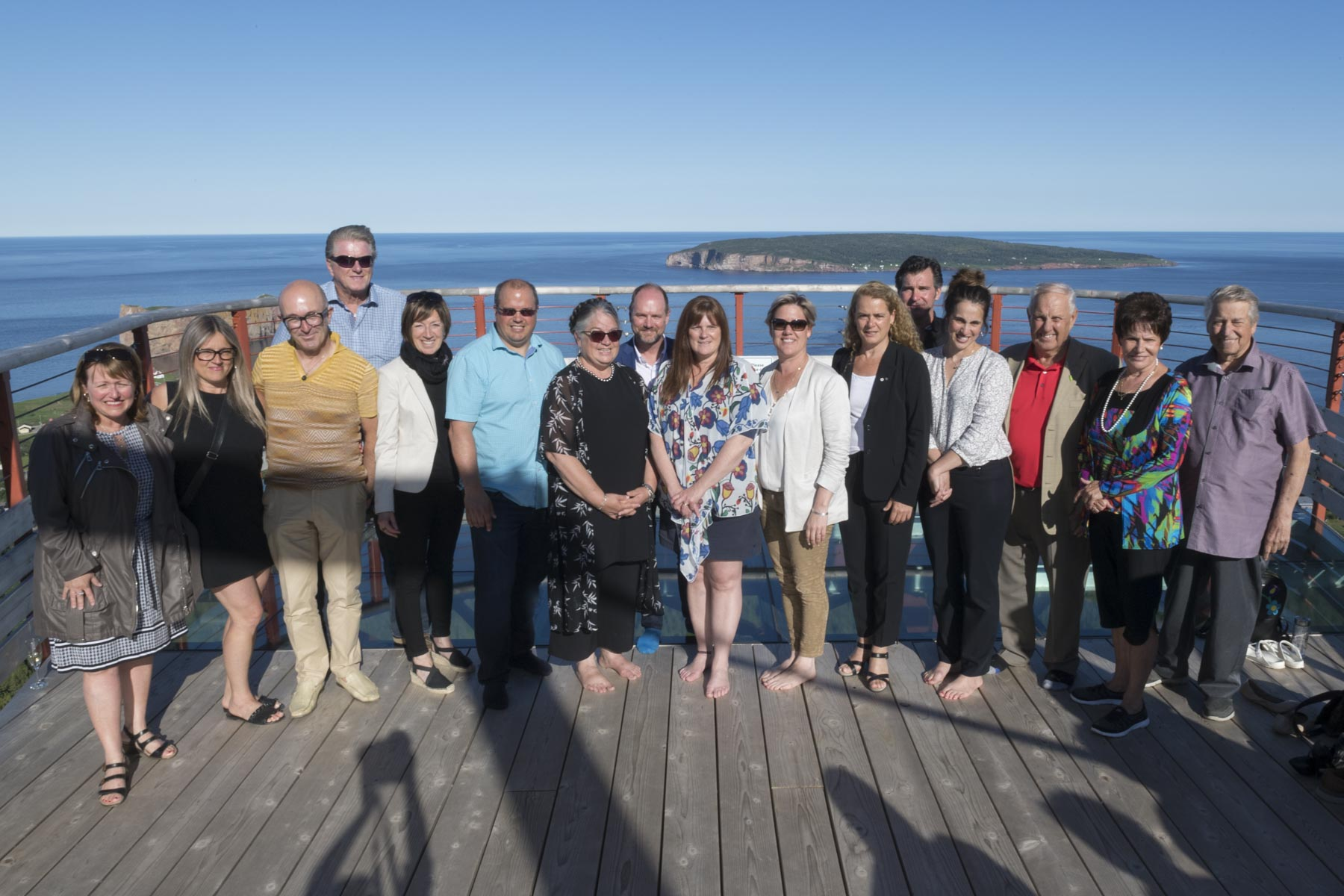 Her Excellency met several local tourism entrepreneurs and investors who were involved in creating this new tourist attraction as members of the Coopérative de solidarité du Géoparc de Percé.