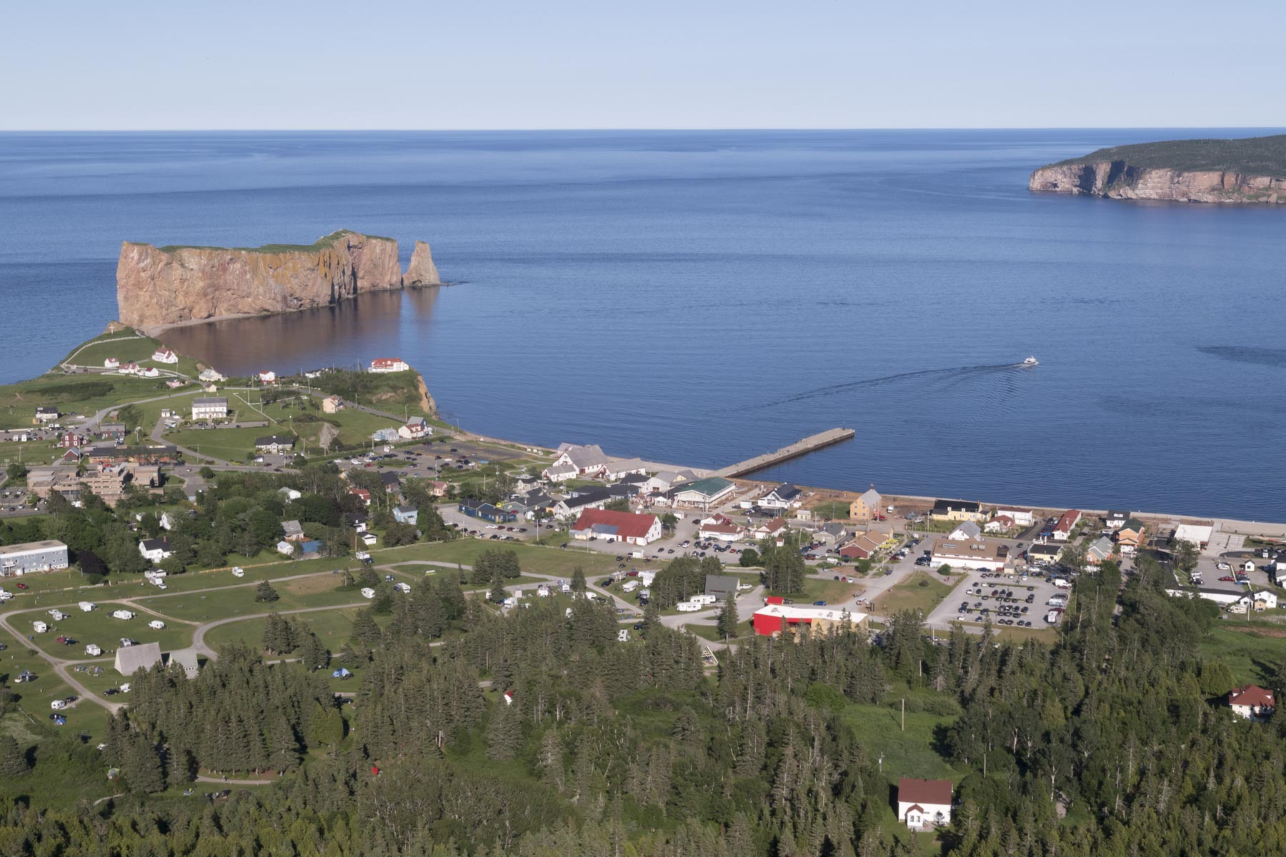 Her Excellency began a three-day regional visit in the Gaspé Peninsula in Quebec on July 11, 2018.