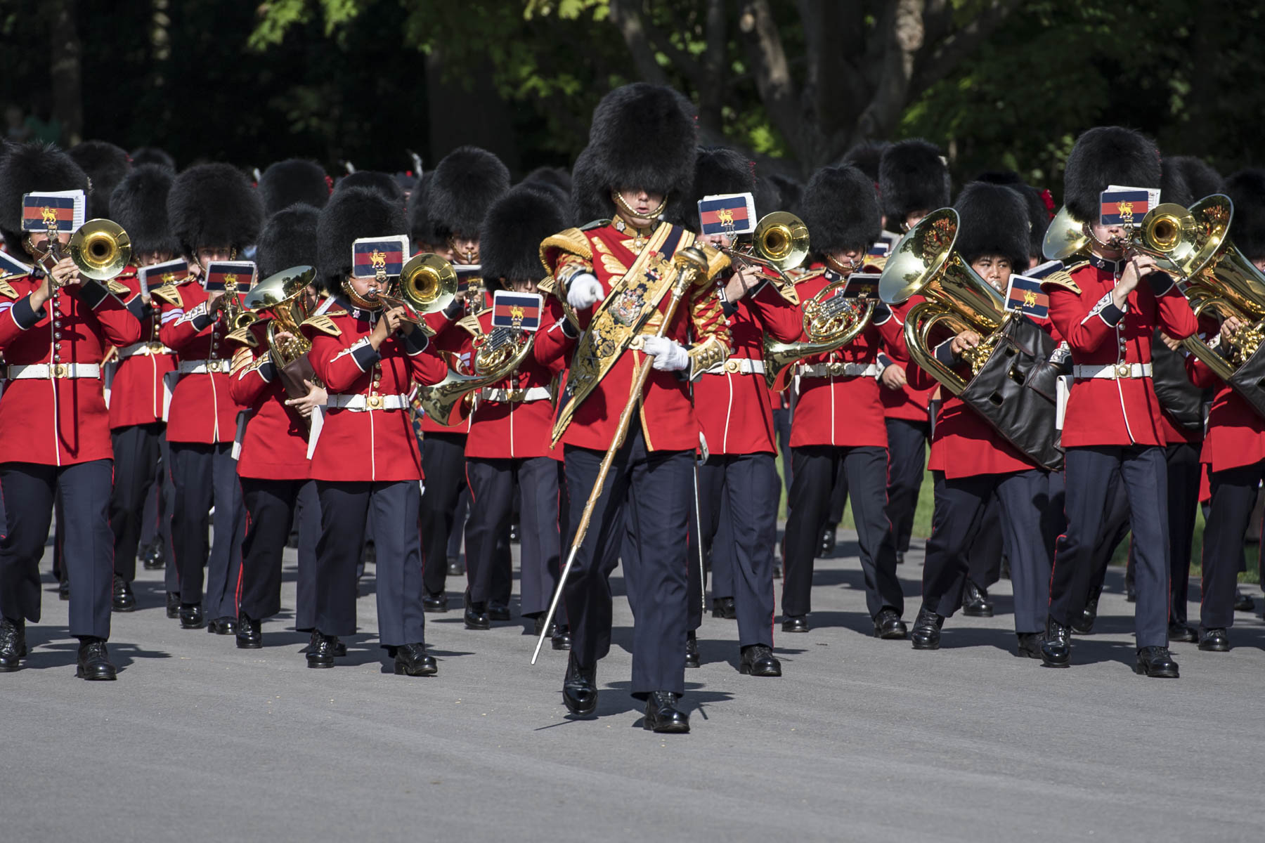 The Ceremonial Guard was established by the Canadian Army (CA) on behalf of the Canadian Armed Forces (CAF) to plan, prepare and execute public duties in Canada's Capital Region during the summer.