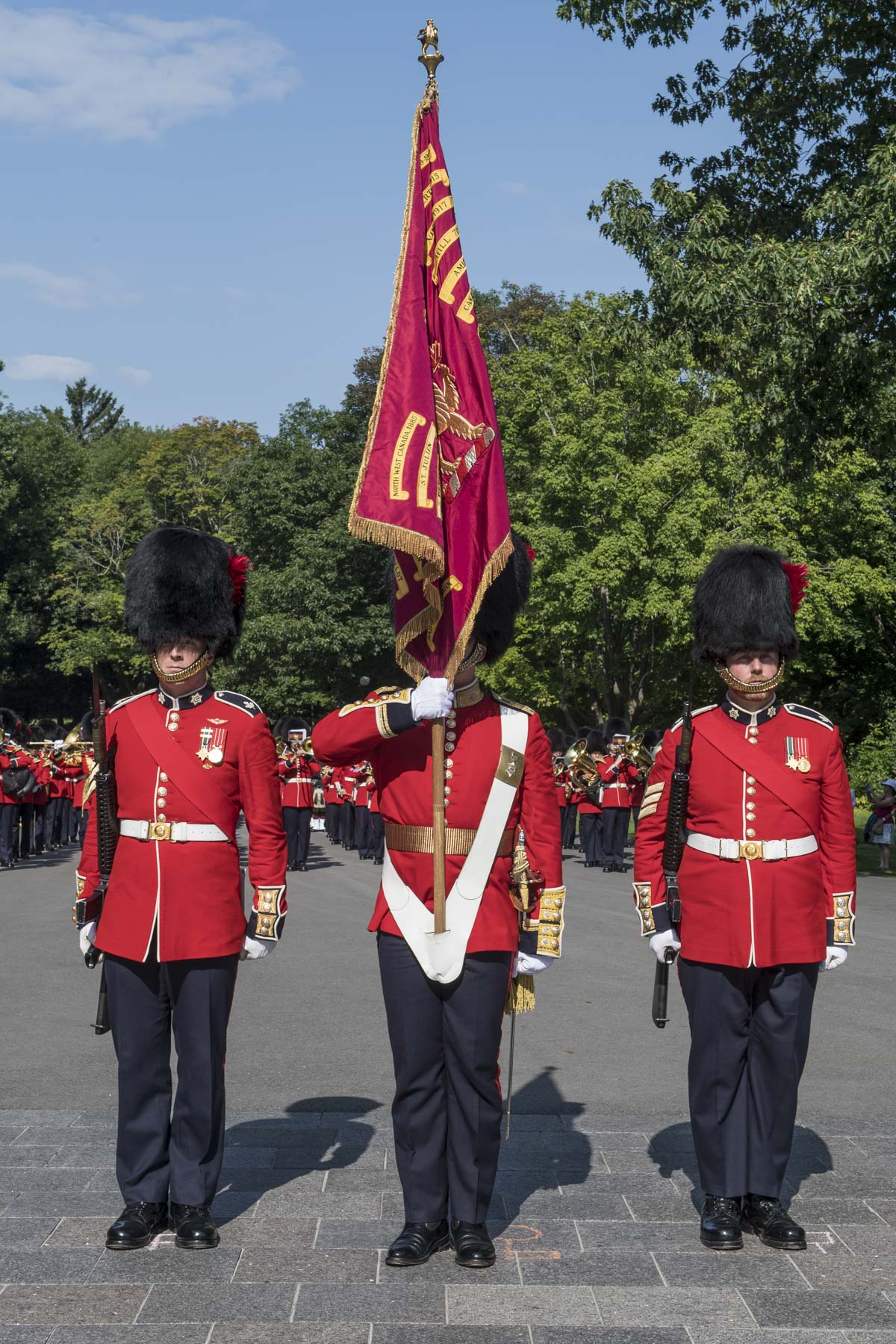 The Ceremonial Guard is comprised of The Governor General's Foot Guards (GGFG), The Canadian Grenadier Guards (CGG) and the Band of the Ceremonial Guard.