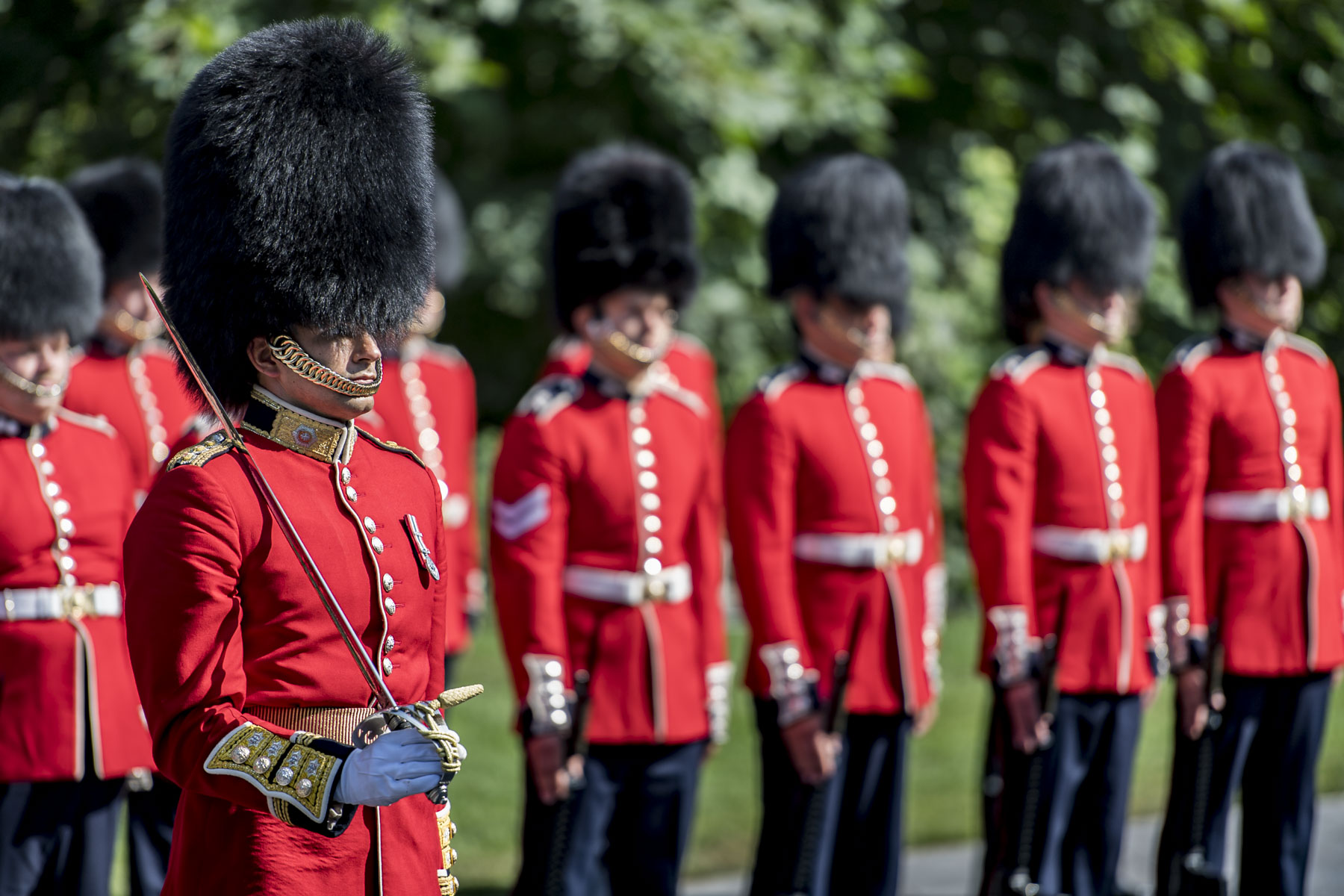 Every guard, musician and member of the support staff is a trained Regular or Reserve member of the CAF.