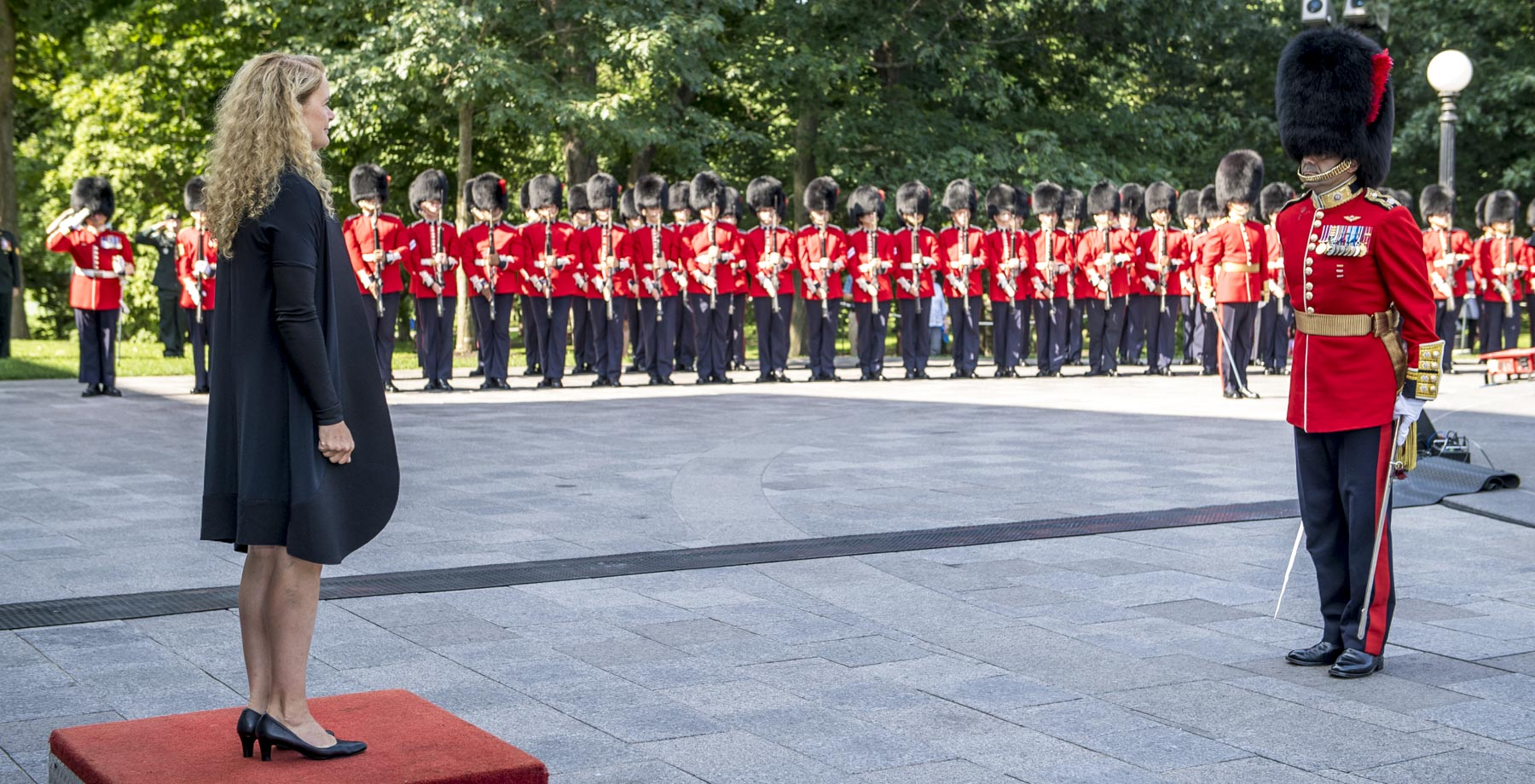 Upon her arrival, the Governor General received the vice-regal salute.