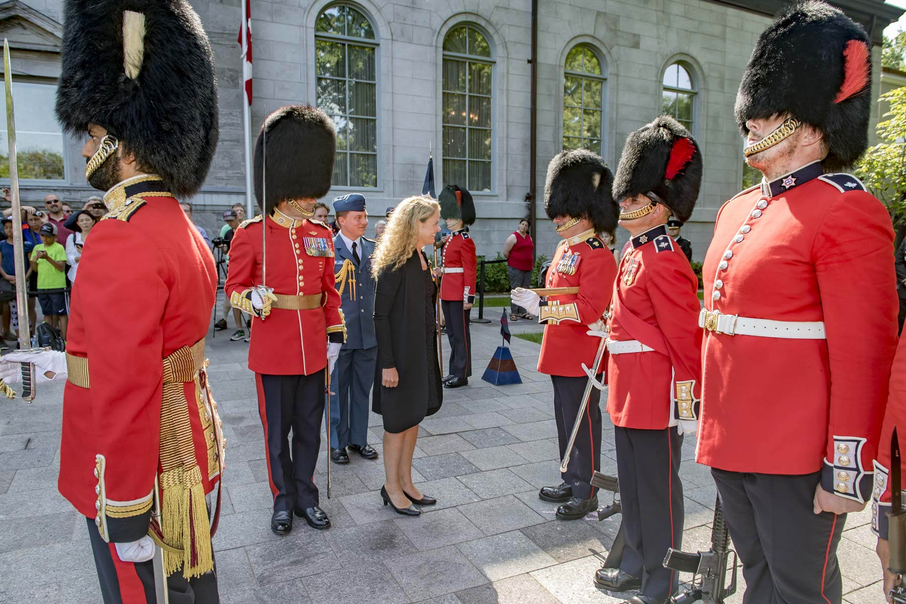 The Governor General then proceeded to inspect the Ceremonial Guard.