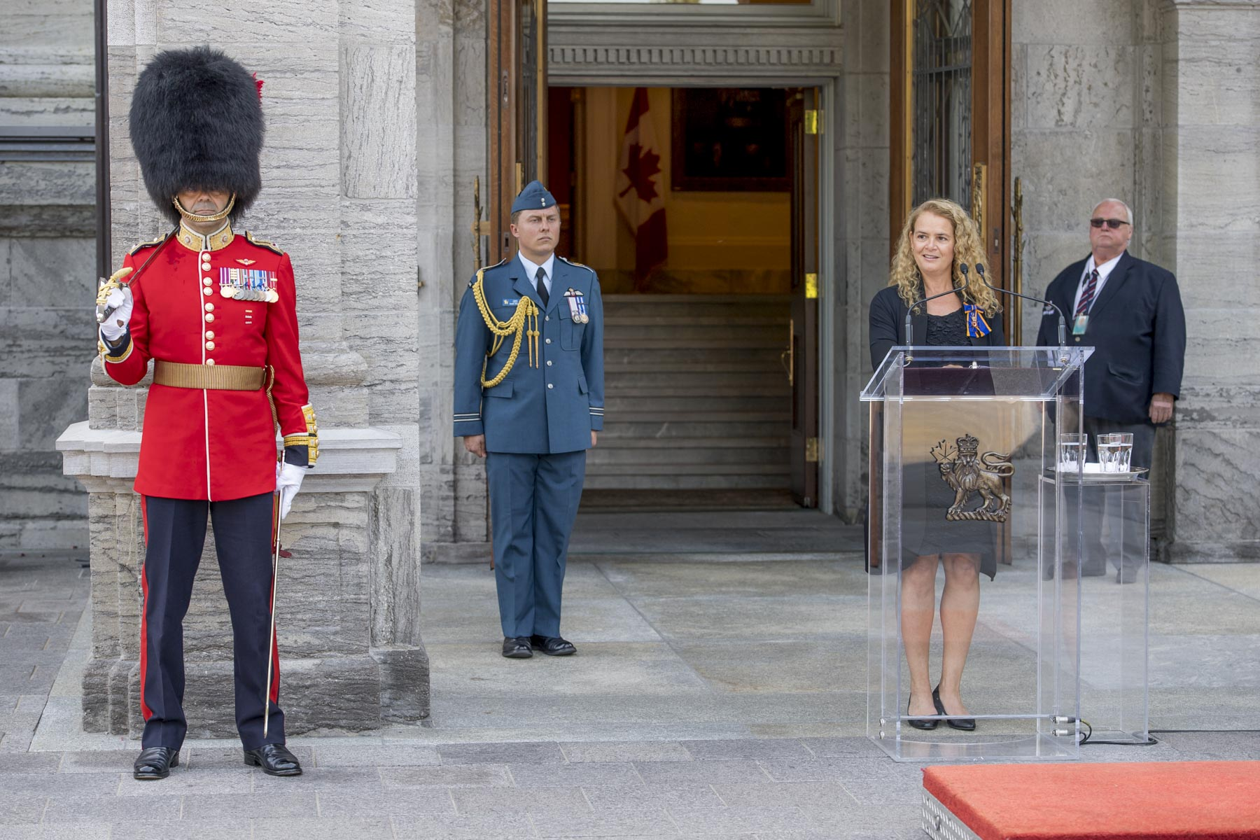 Once the inspection completed, the Governor General addressed the Ceremonial Guard and thanked them for their devoted service during the summer season.