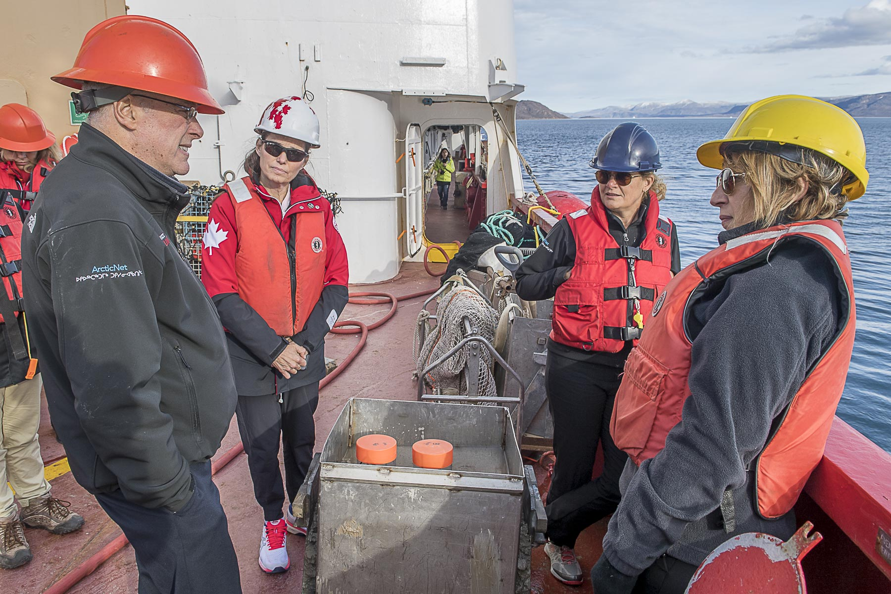In the afternoon, Her Excellency toured the CCGS Amundsen.
