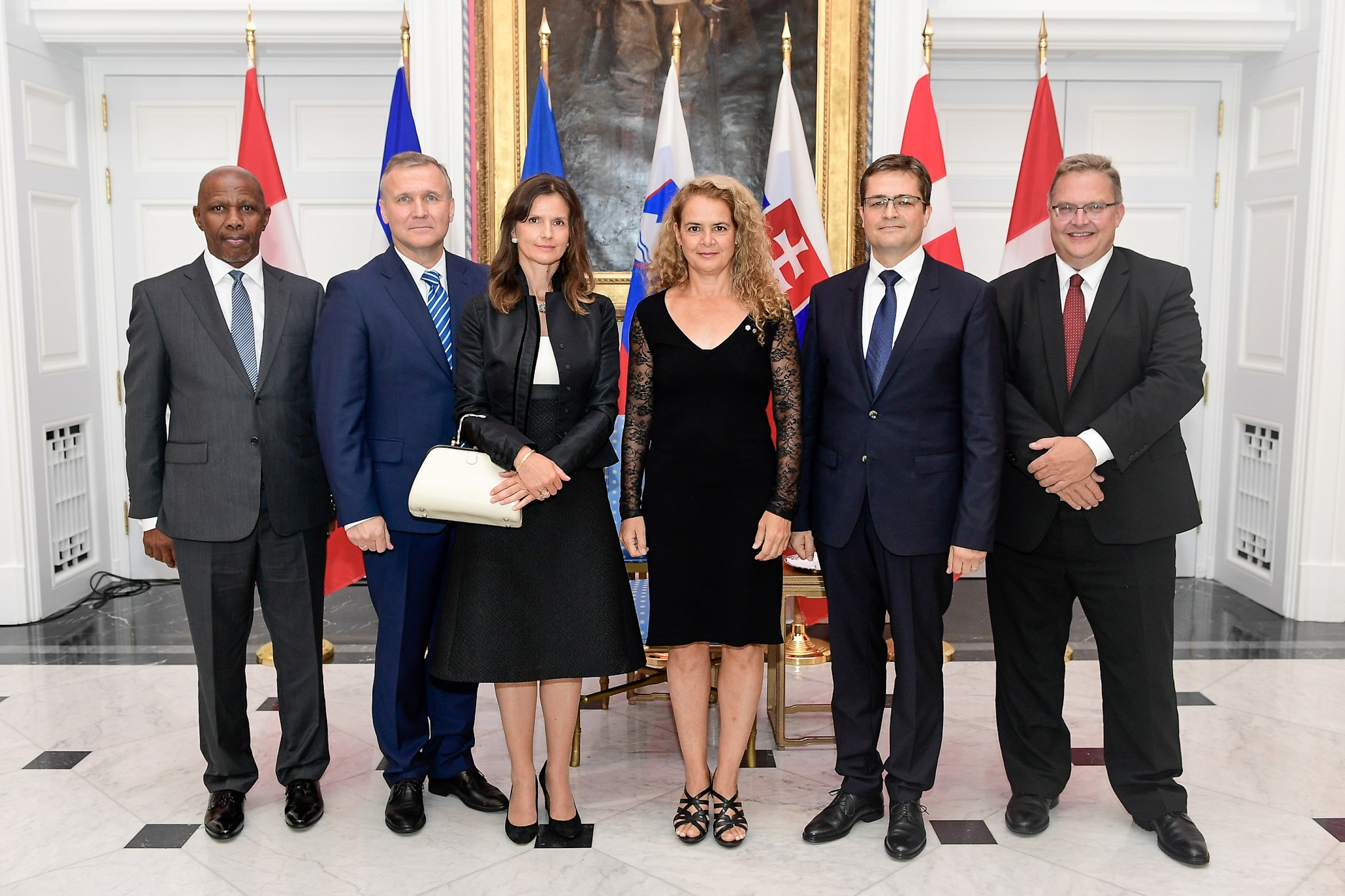 On September 5, 2018, the Governor General received the letters of credence of five new heads of mission. Letters of credence are the official documents by which new heads of diplomatic missions are presented by their head of State as their official representative.