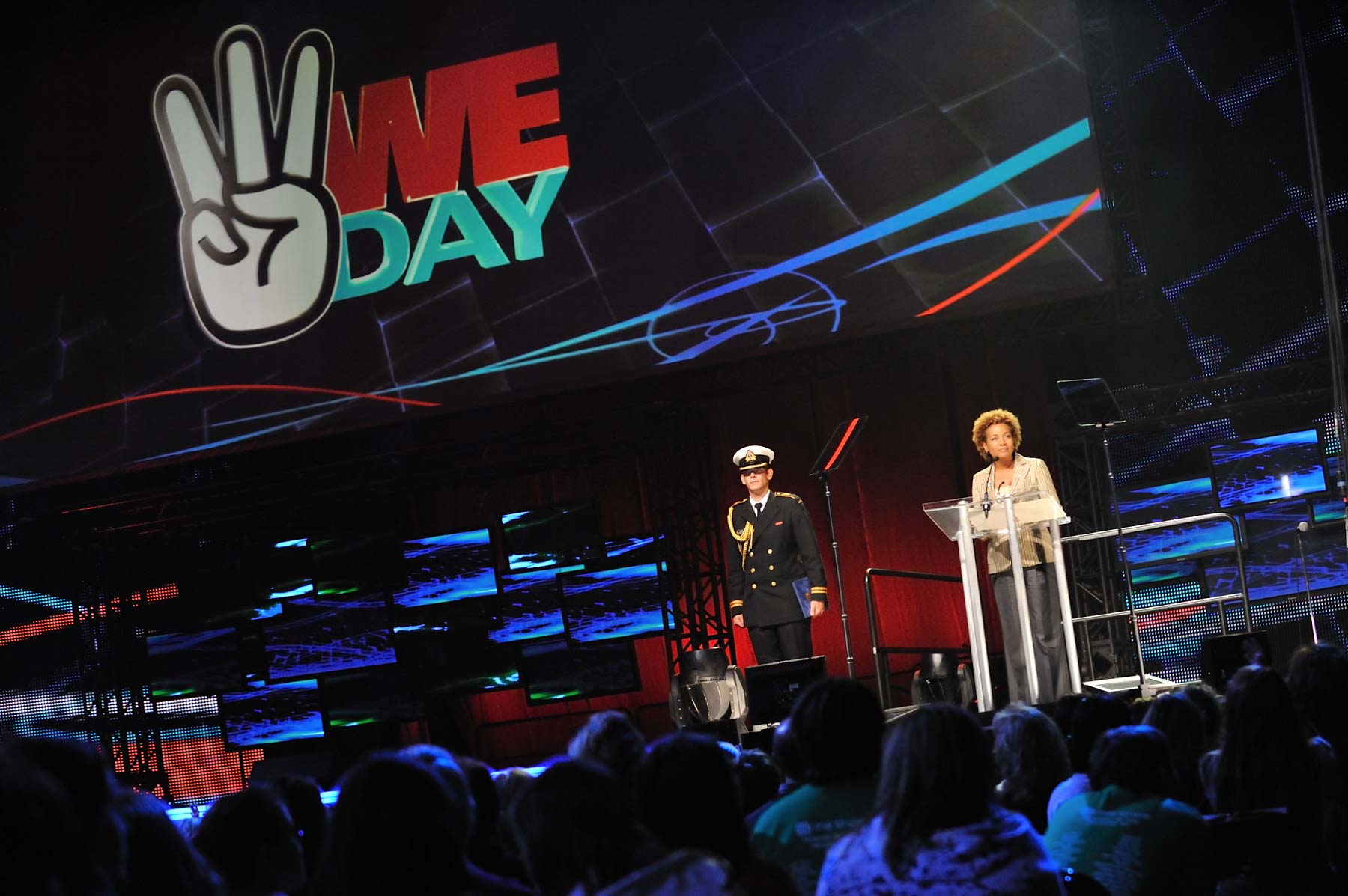 "The Governor General delivered the opening address at We Day. ""Dear friends, as I look across the stadium, all I see are thousands of eyes glowing with the conviction that we all have the power to change the course of the world."""