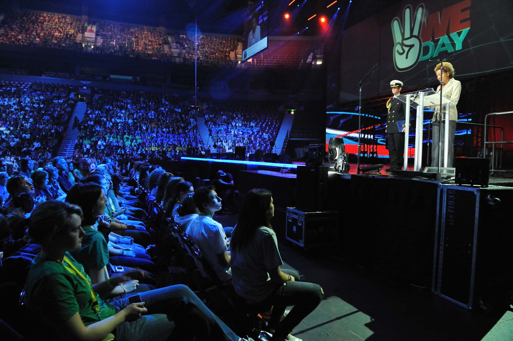 "The 2009 We Day activities consists of one-day events in three Canadian cities (Vancouver, Toronto and Hamilton), It celebrates the ""Me to We"" philosophy of reaching out to help others, while engaging youth to be the change agents as they support the"