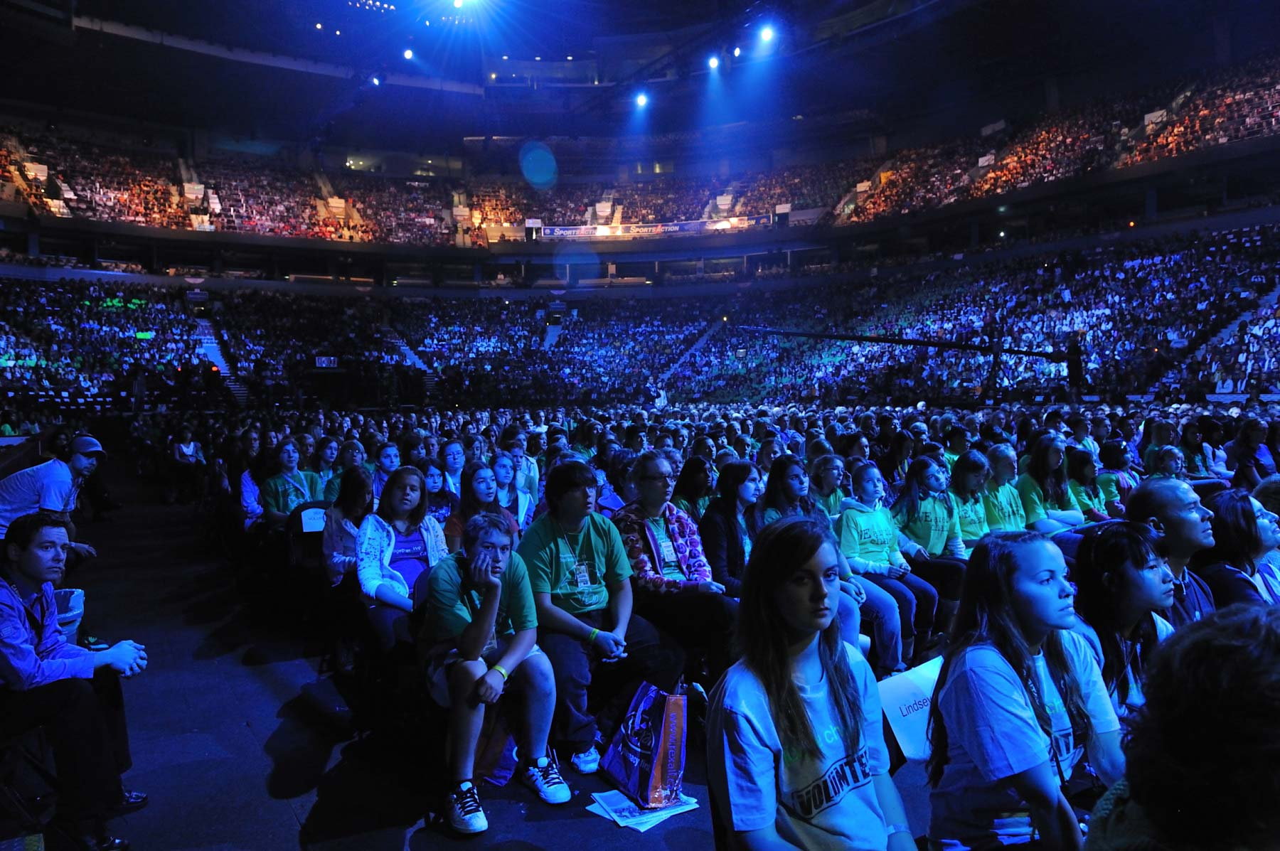 Approximately 16 000 youth attended the event held at General Motor Place, in Vancouver, British Columbia.