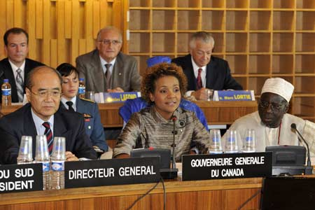 The Governor General delivered a speech before the Executive Board of the United Nations Educational, Scientific and Cultural Organization (UNESCO), at UNESCO Headquarters, in Paris.