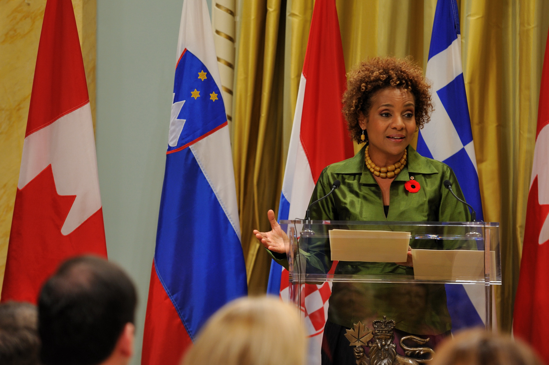 The Governor General announced she will be conducting visits to Slovenia, from October 21 to 22, a State to Croatia, from October 23 to 27, and Greece, from October 29 to 31, 2009.