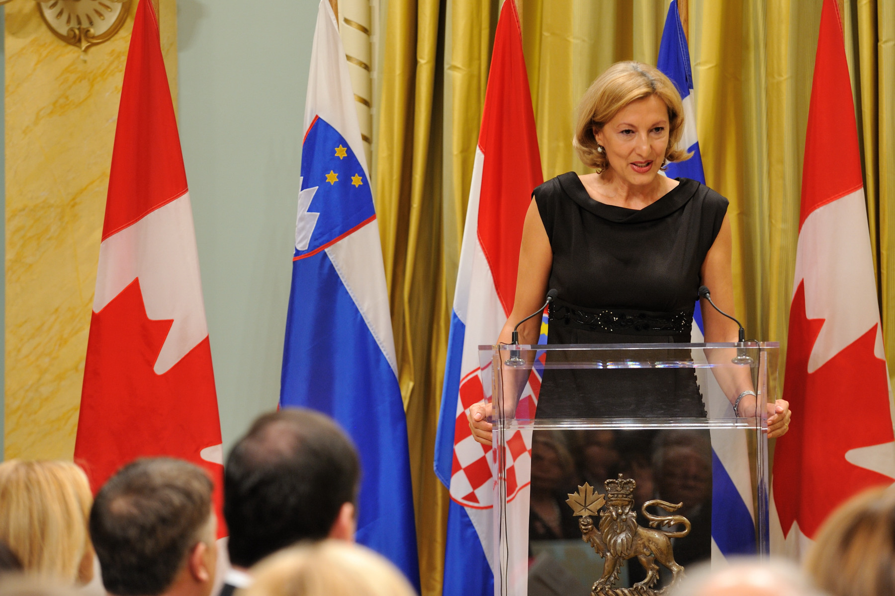 Her Excellency Vesela Mrdne Korac, Ambassador of Croatia to Canada, delivered remarks on the friendship between Canada and Croatia.