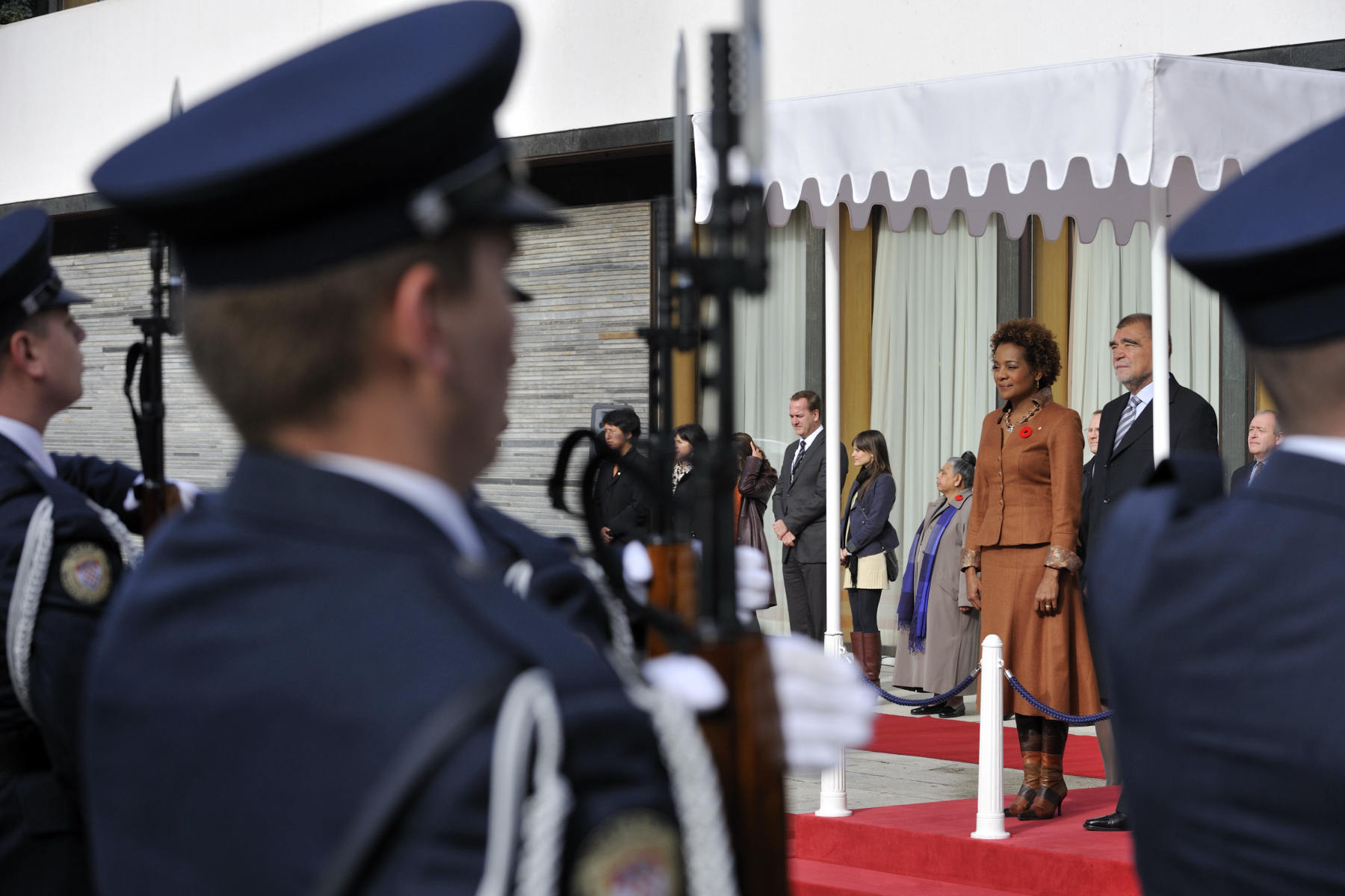 Her Excellency was officially welcomed to the Republic of Croatia during a ceremony with military honours.