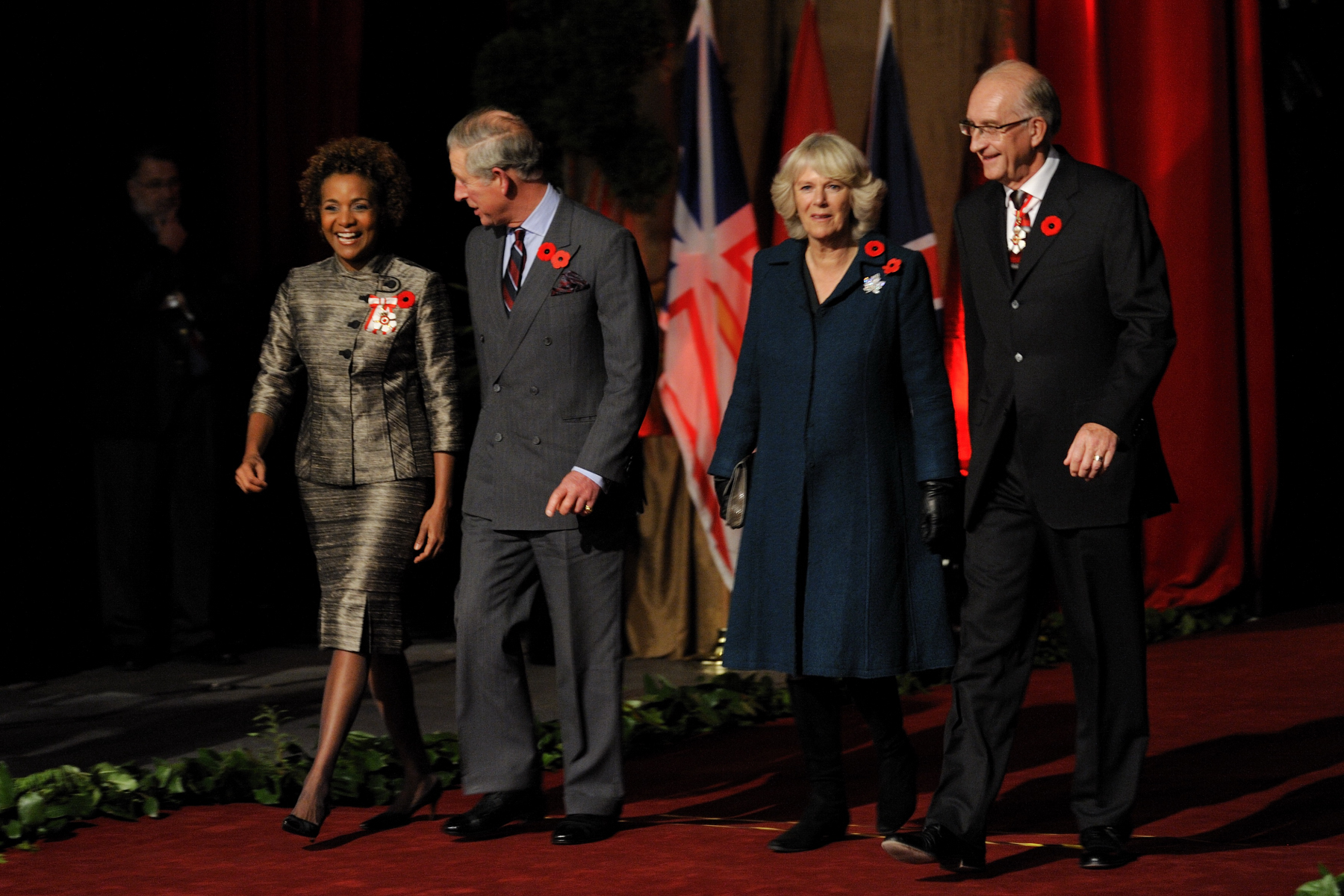 Their Excellencies welcomed Their Royal Highnesses The Prince of Wales and The Duchess of Cornwall upon their arrival in St. John's, Newfoundland and Labrador, as they begin their 11-day visit to Canada.
