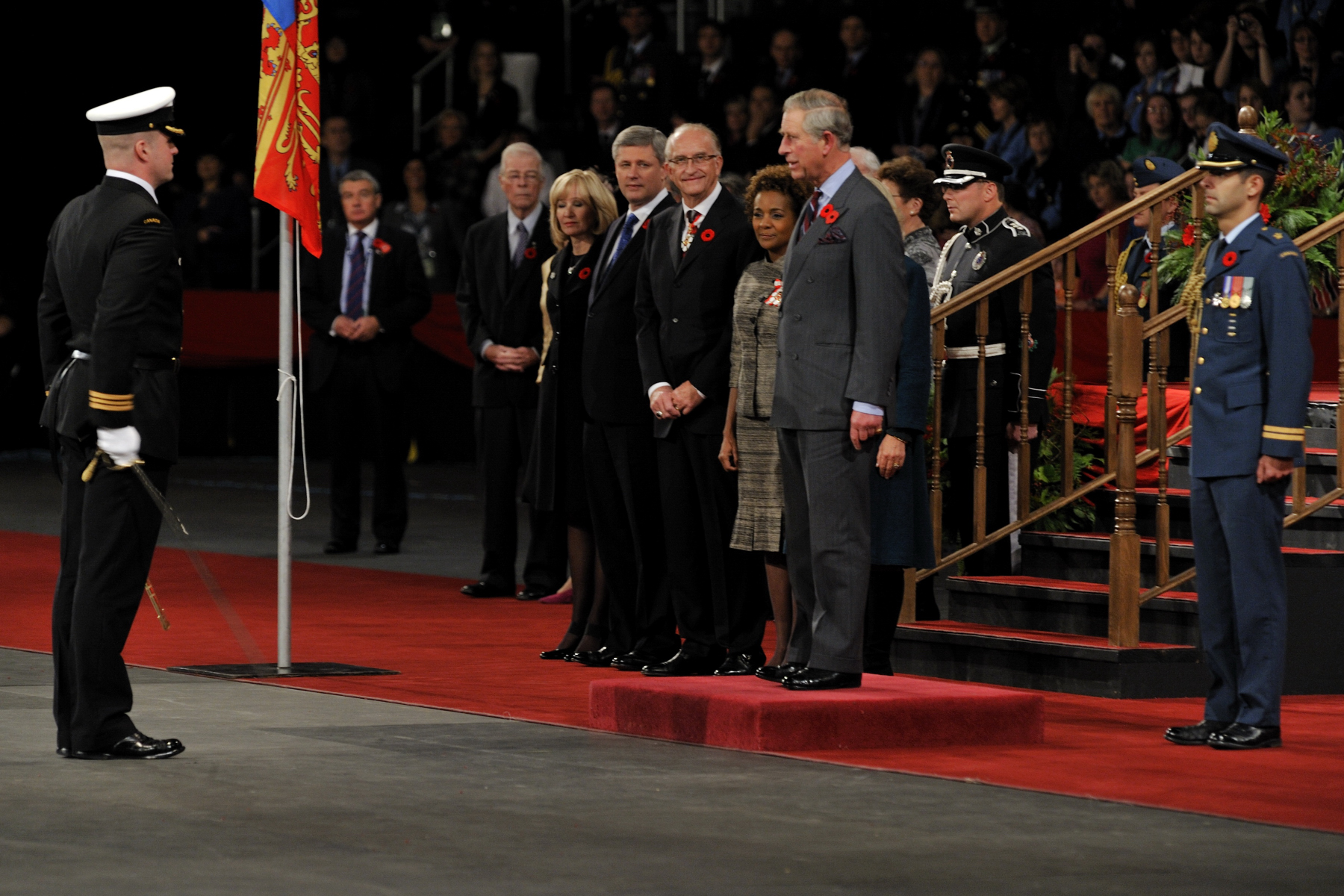 The public ceremony to welcome Their Royal Highnesses to Canada was held at Mile One Centre in St.John's, Newfoundland and Labrador on November 2.