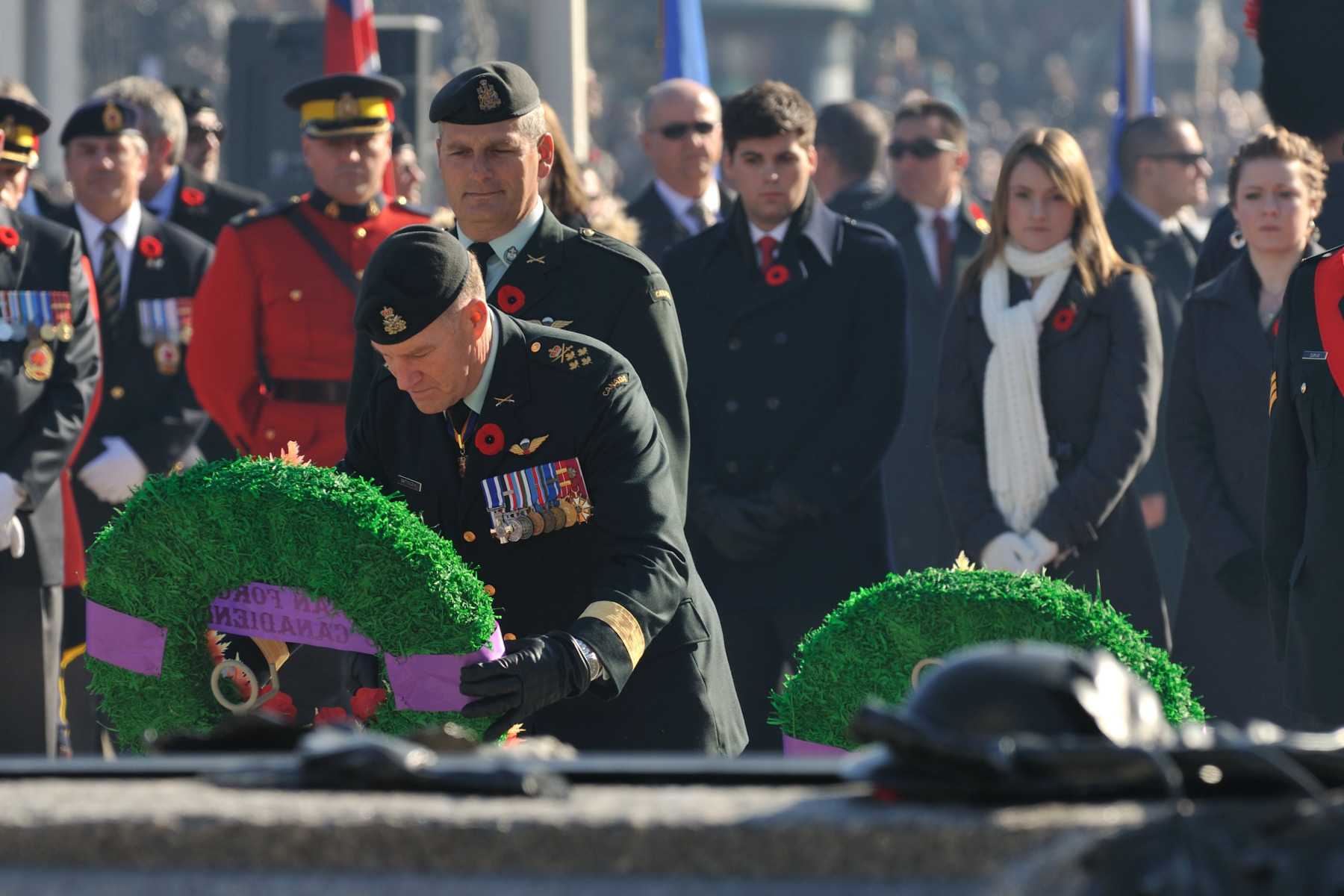 General Walter Natynczyk, Chief of the Defence Staff along with Canadian Forces Chief Warrant Officer Greg Lacroix also laid a wreath during the Ceremony.