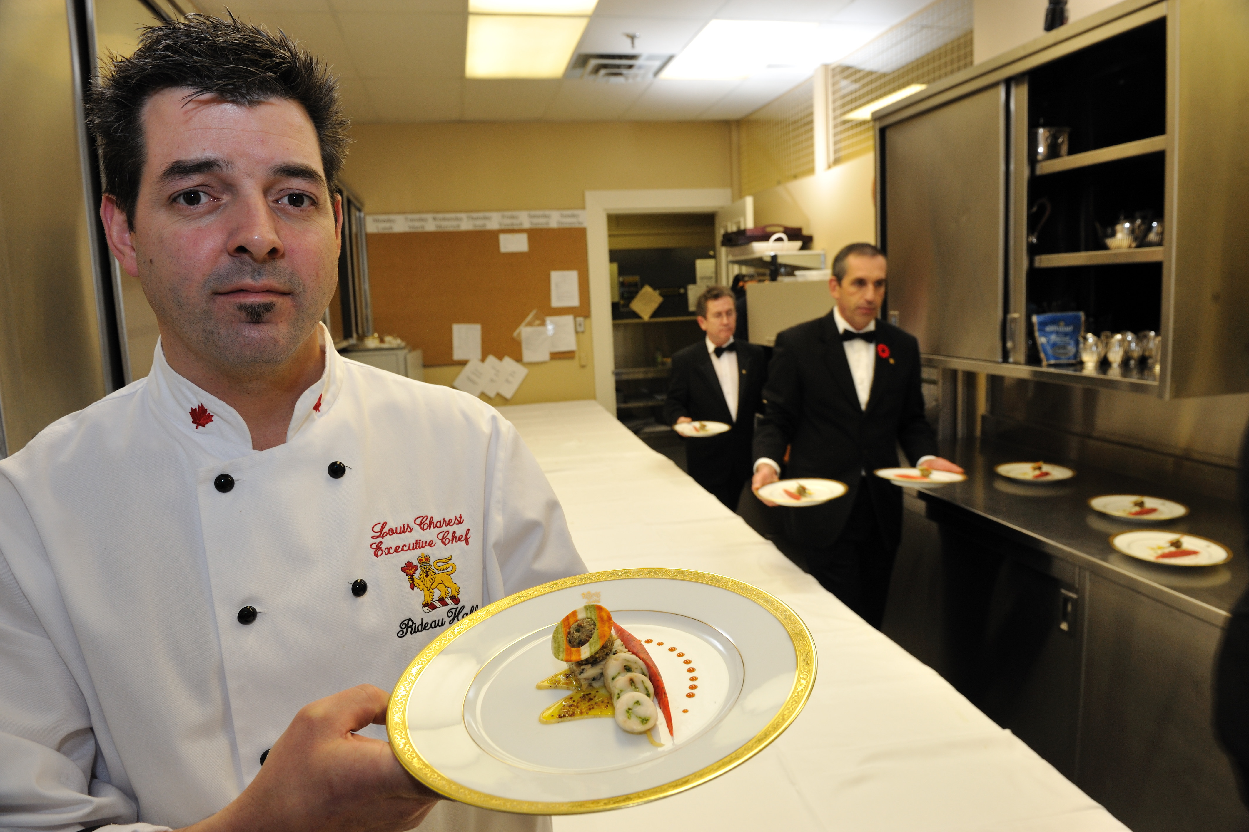 Rideau Hall Executive Chef, Louis Charest, always prepares special meals that marvel the guests.