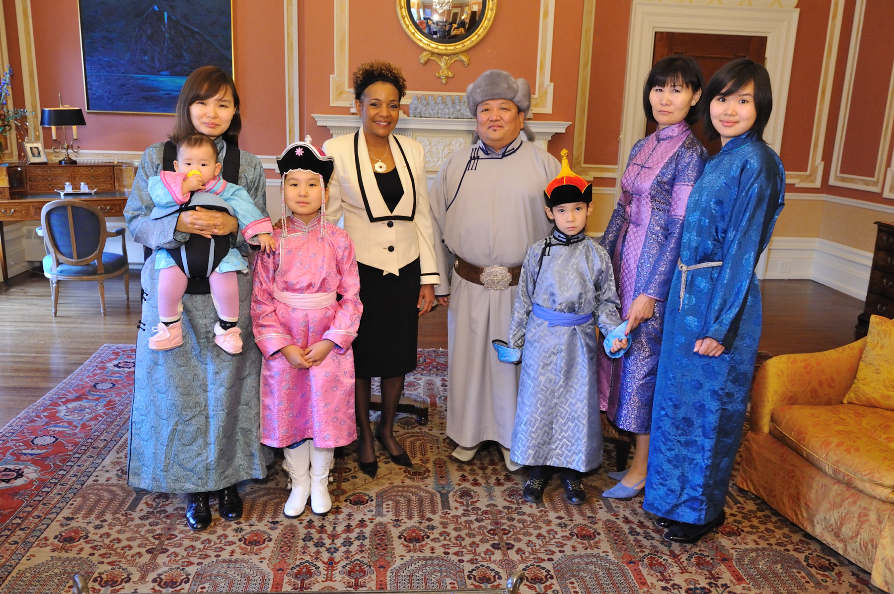 The Ambassador of Mongolia, His Excellency Tundevdorj Zalaa-Uul, was accompanied by his wife, children and grand-child.