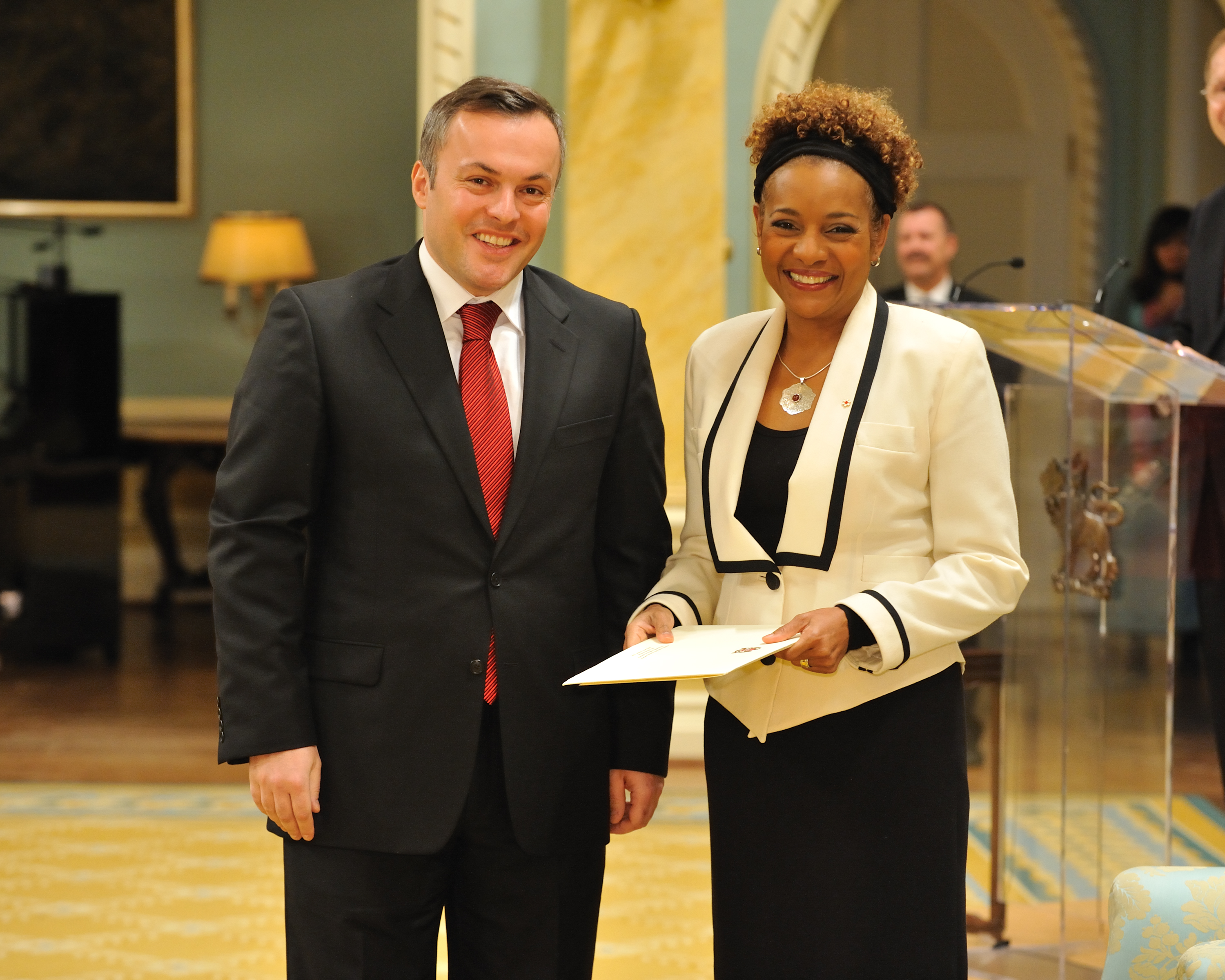 The Governor General received the credentials of His Excellency Batu Kutelia, Ambassador of the Republic of Georgia.