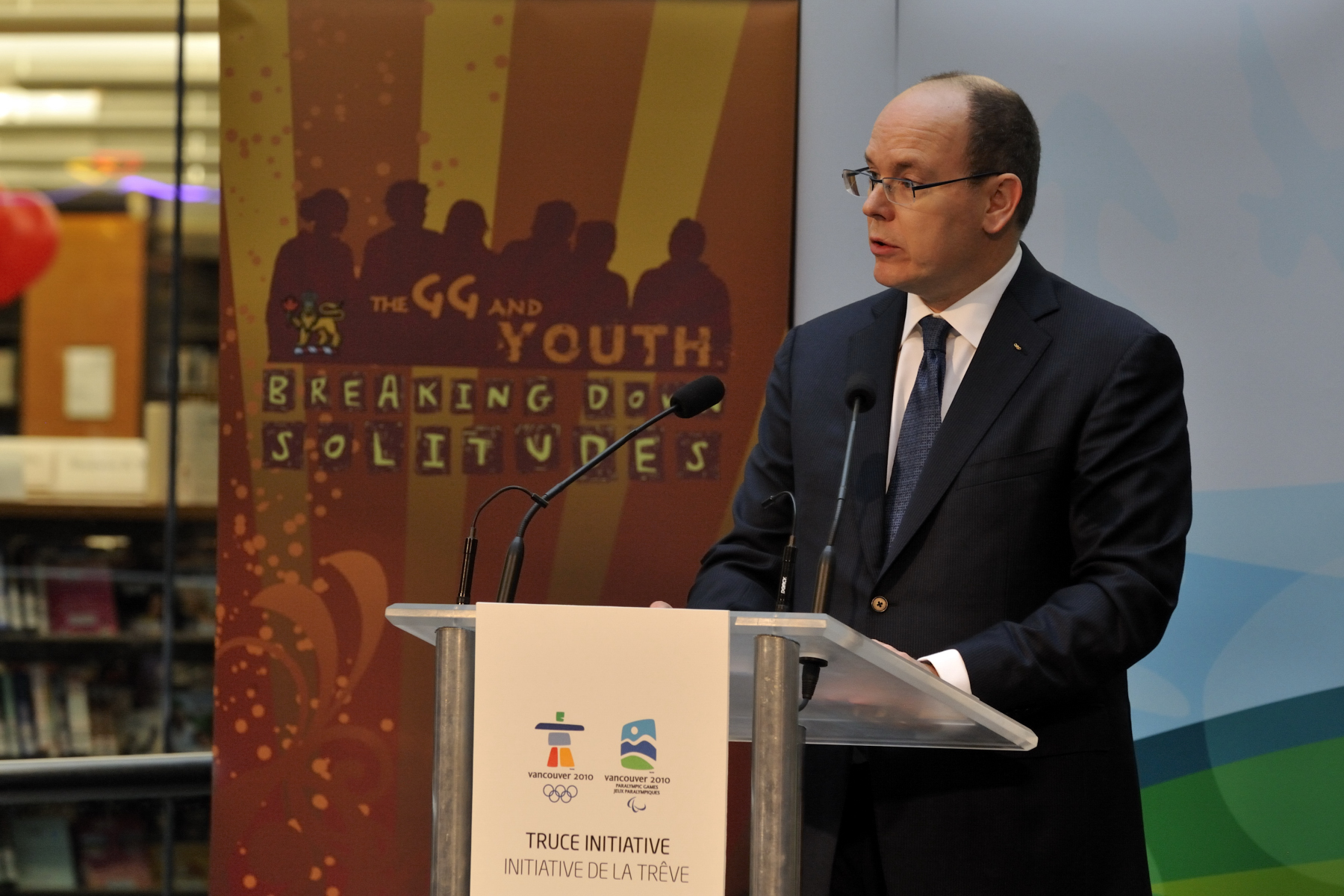 "The theme of the Youth Dialogue was ""Promoting Mutual Understanding"". His Serene Highness Albert II Sovereign Prince of Monaco delivered an address."