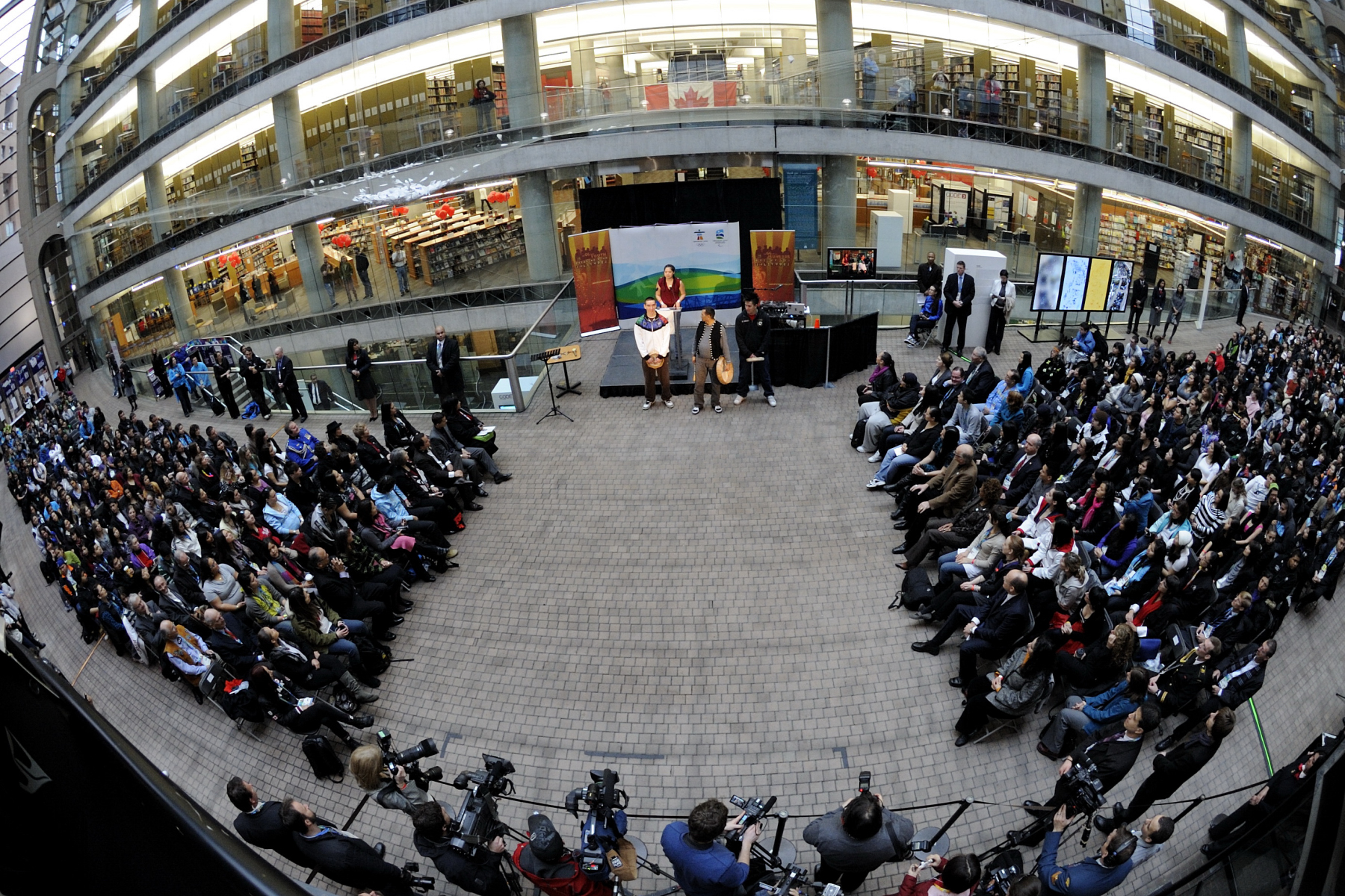 The intercultural dialogue was presented as part of the Vancouver 2010 Indigenous Youth Gathering and held at the Vancouver Public Library's Central Branch on February 11, 2010.