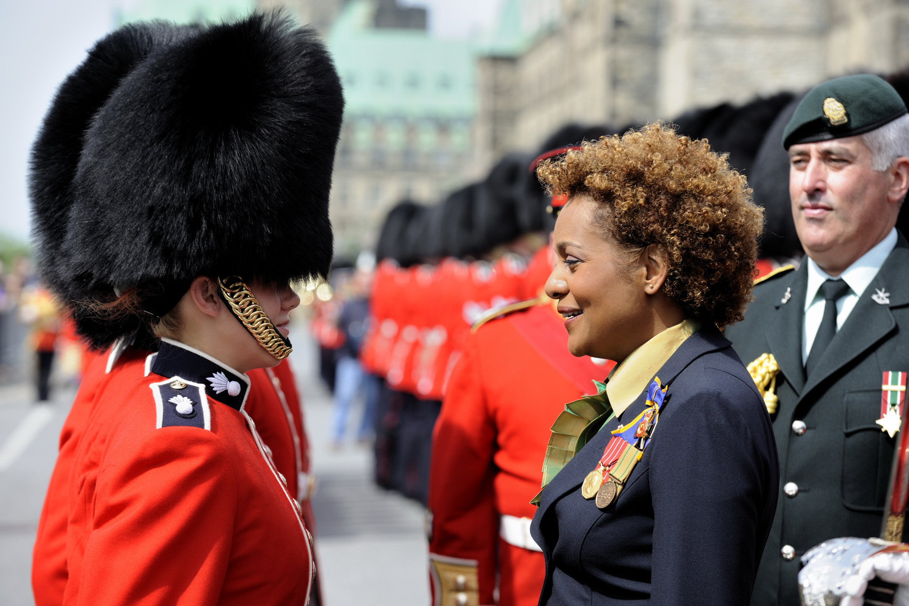 The Governor General inspected the Ceremonial Guard.