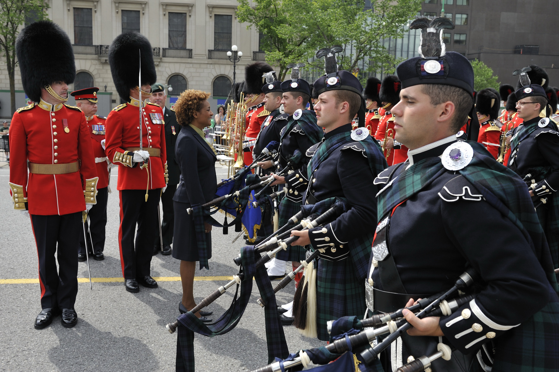 The public duties of the Ceremonial Guard, including the Relief of the Sentries, begins on June 28, on Parliament Hill and at Rideau Hall, the official residence of the governor general.