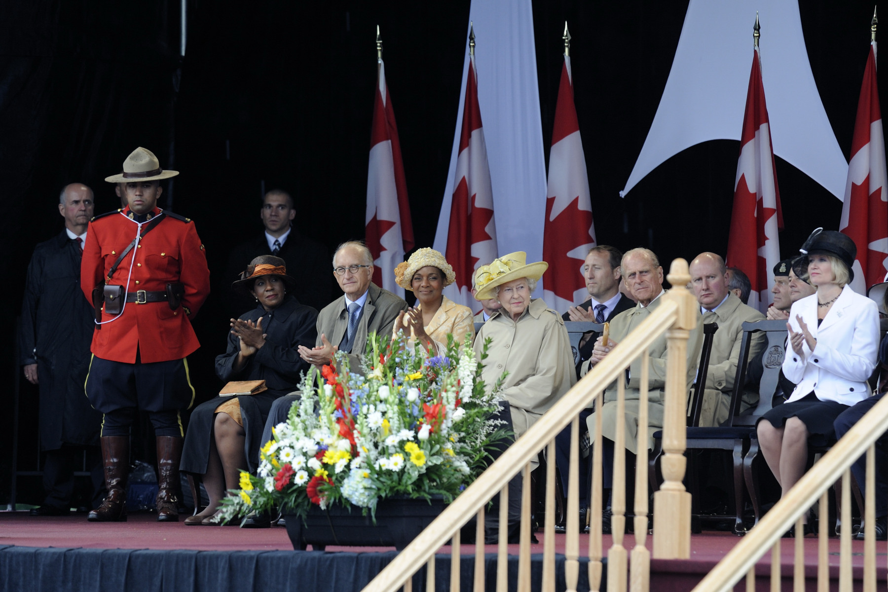 The official welcoming ceremony took place at Garrison Grounds in Halifax.