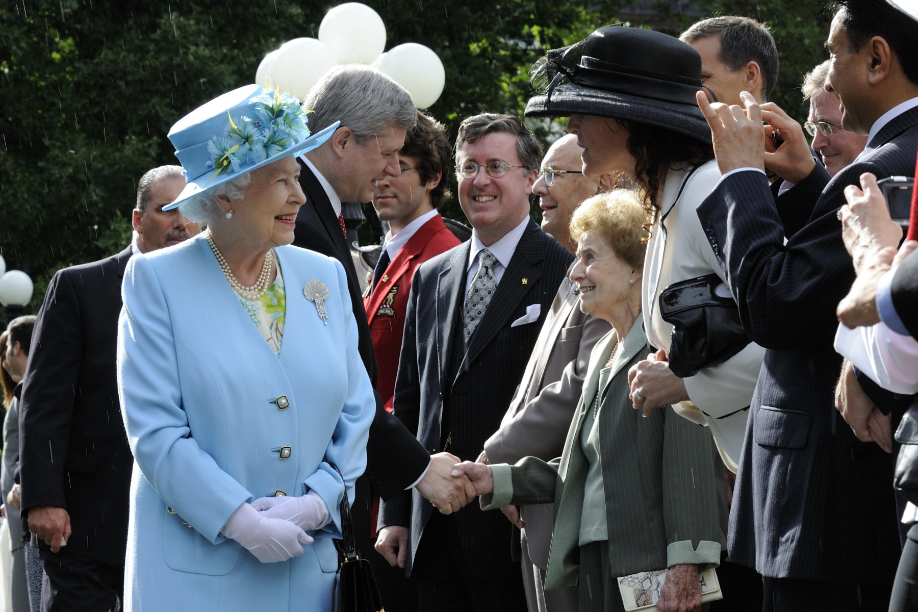 The Queen and The Duke of Edinburgh hosted a garden reception at Rideau Hall.