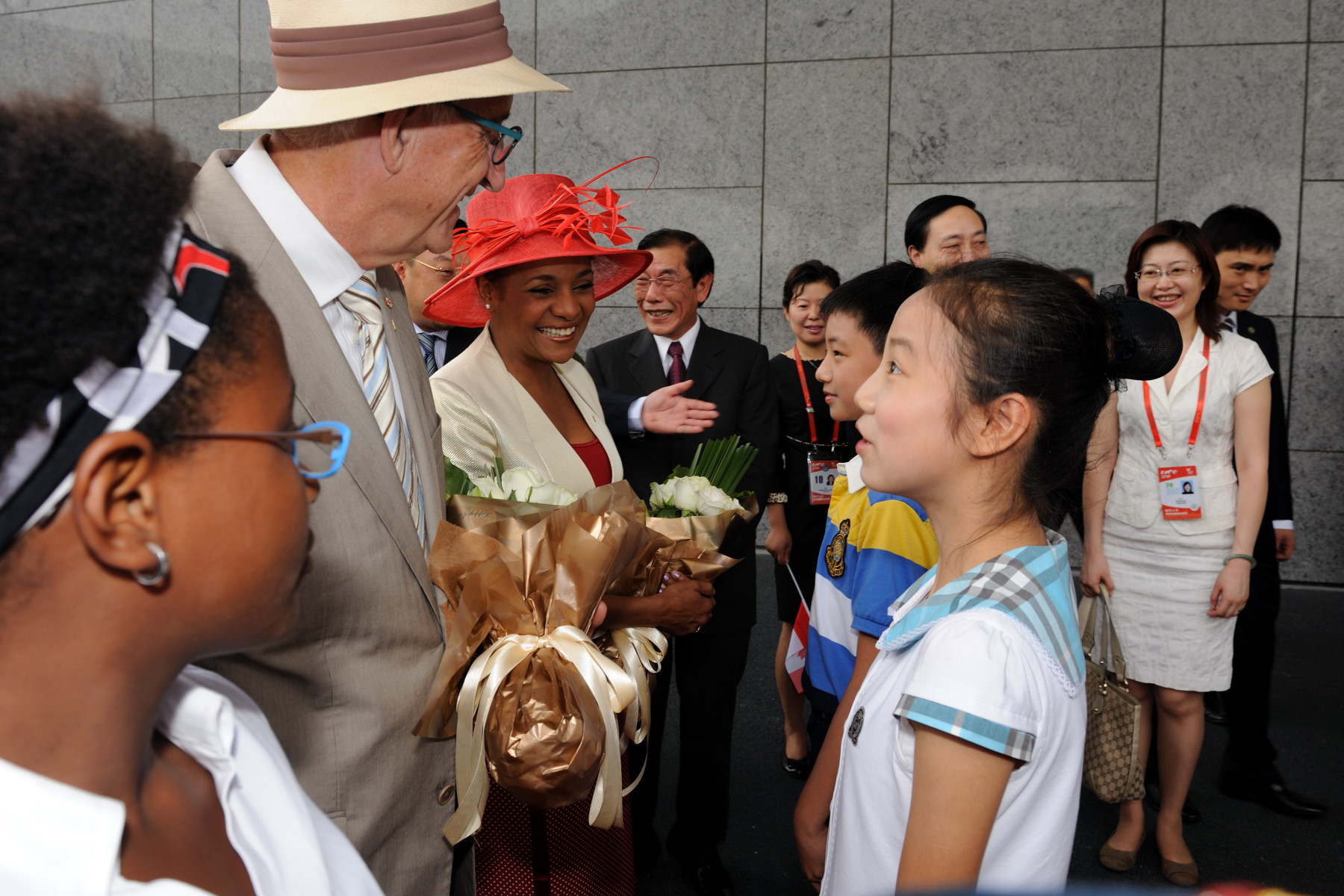 Their Excellencies are welcomed to Expo Shanghai 2010.