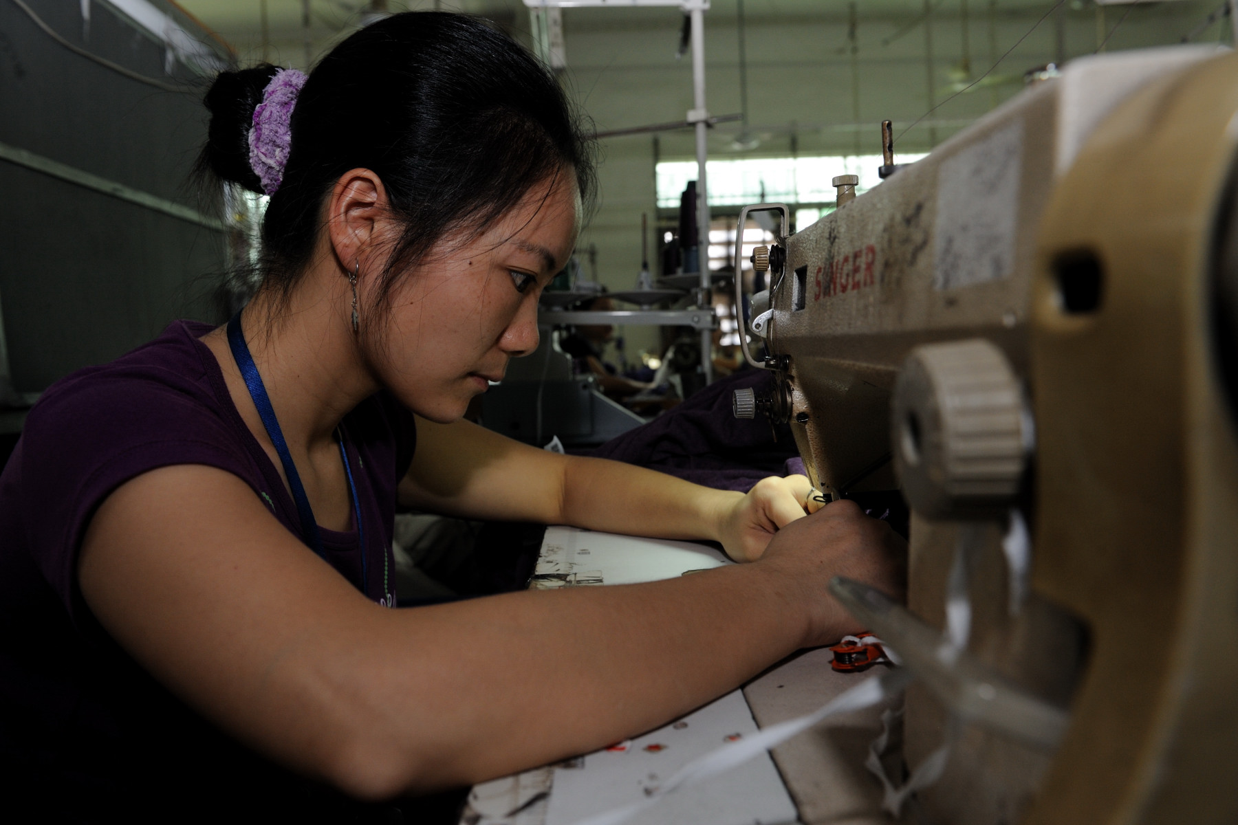 The clothing factory employs 2000 migrant workers.
