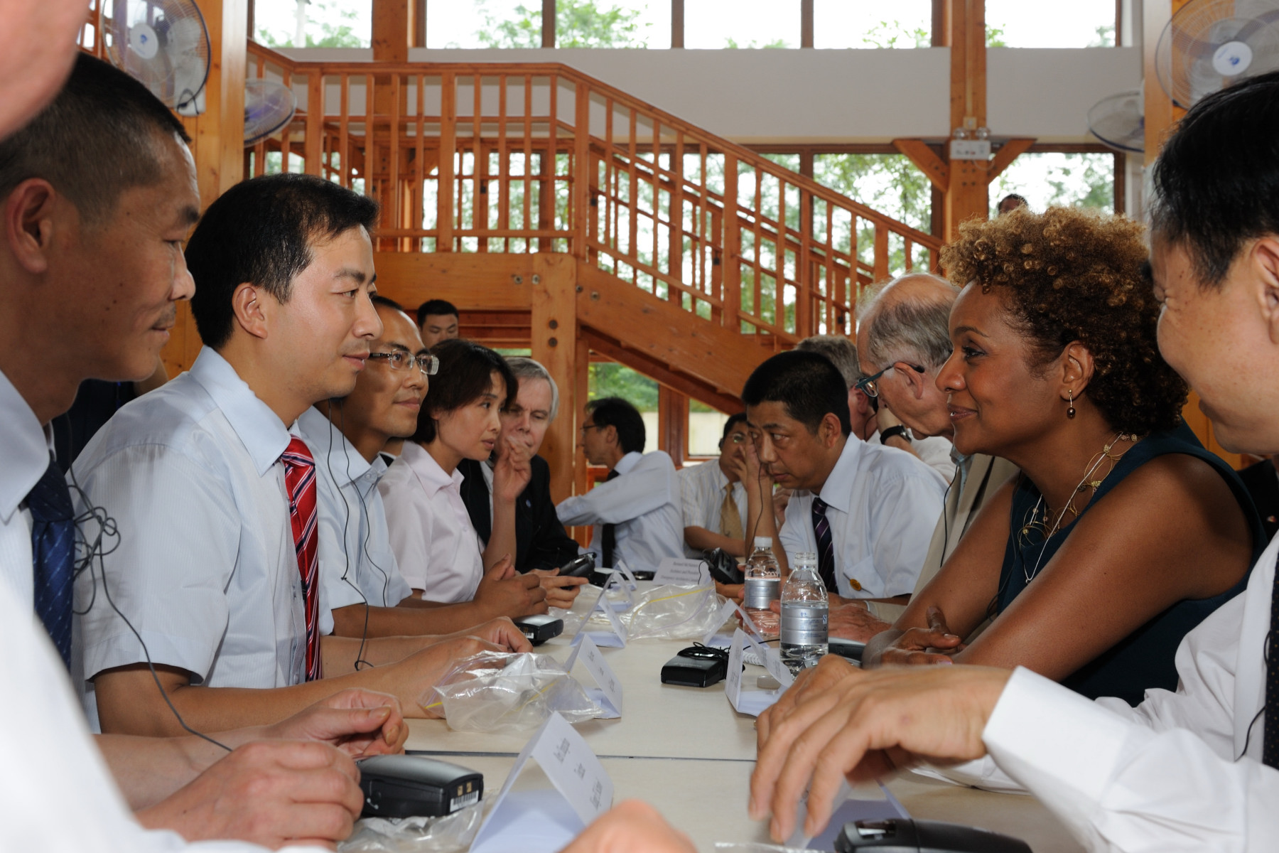 The visit was also an opportunity to meet some students, and teachers at the school.