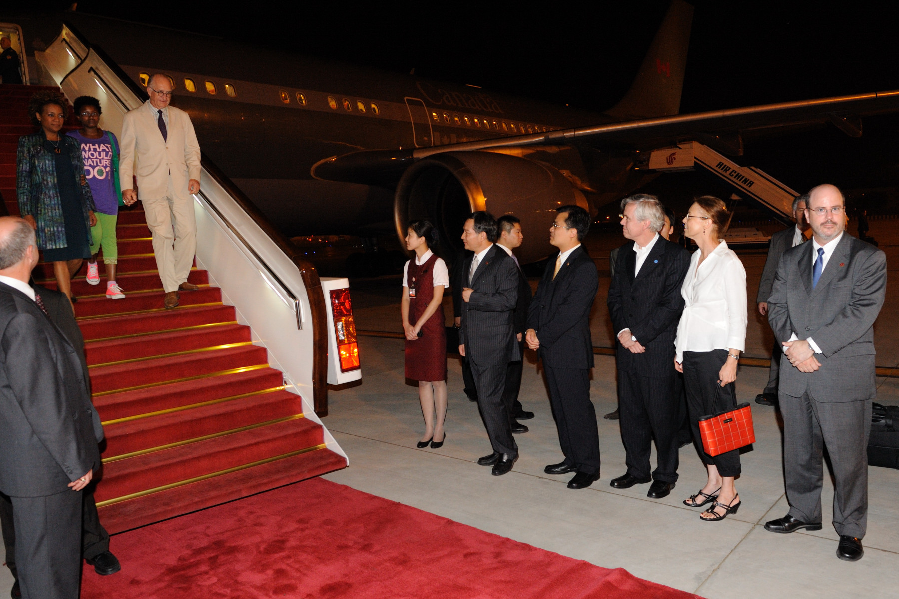 Their Excellencies arrived in China's capital Beijing.