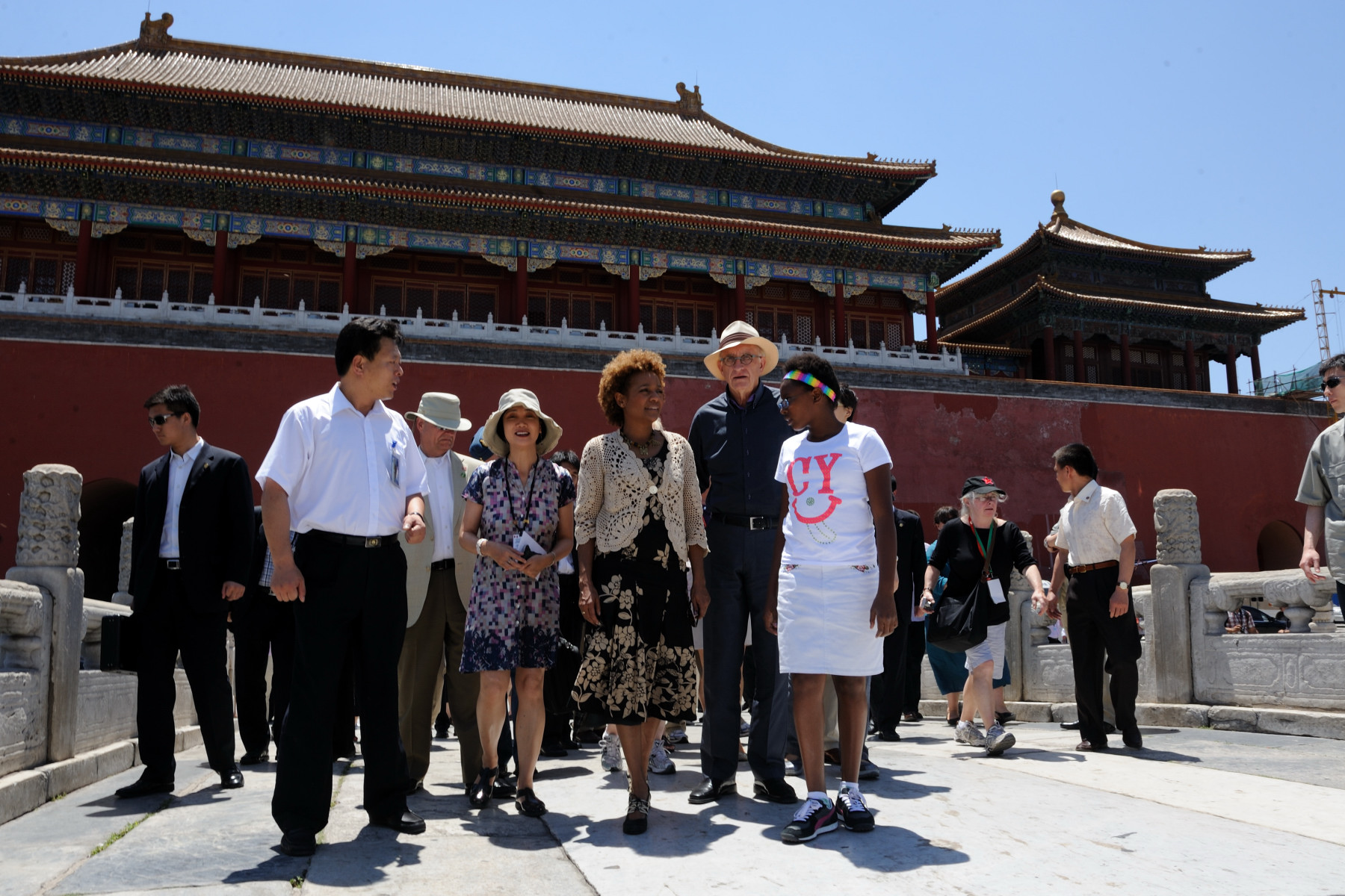 Their Excellencies, Marie-Éden and the delegation also visited the Forbidden City.
